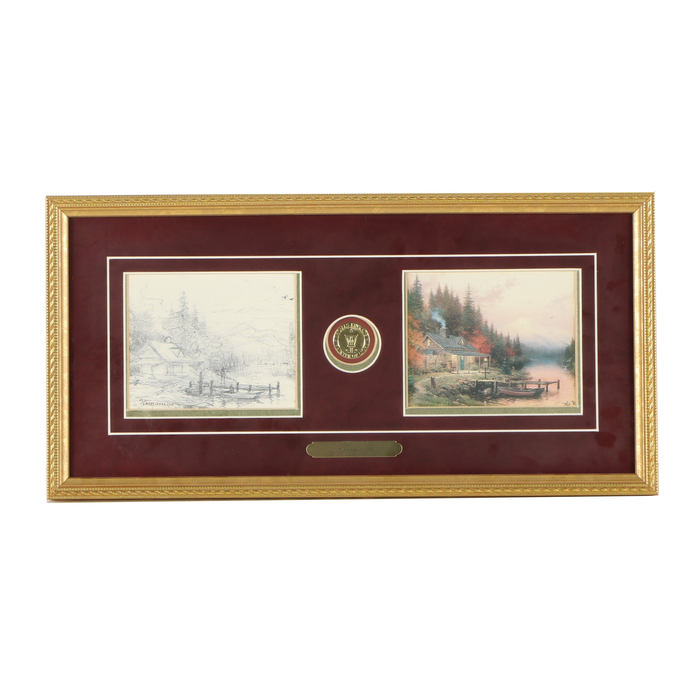 """Thomas Kinkade Limited Edition Offset Lithograph """"A Perfect Day"""""""