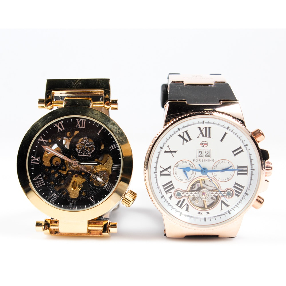 MG. Orkina and Forsining Wristwatches