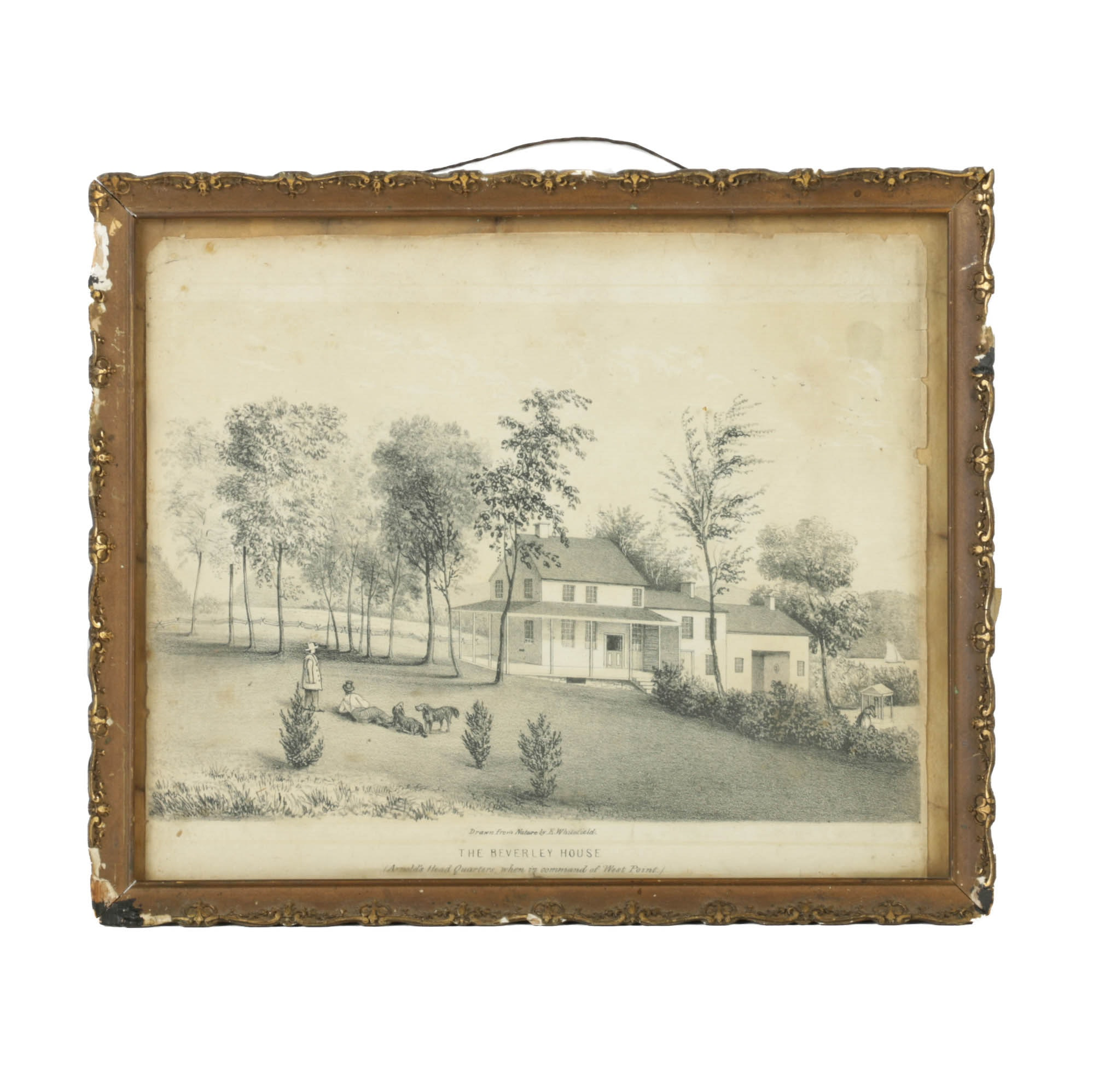 "Lithograph on Paper After Edwin Whitefield ""The Beverly House"""