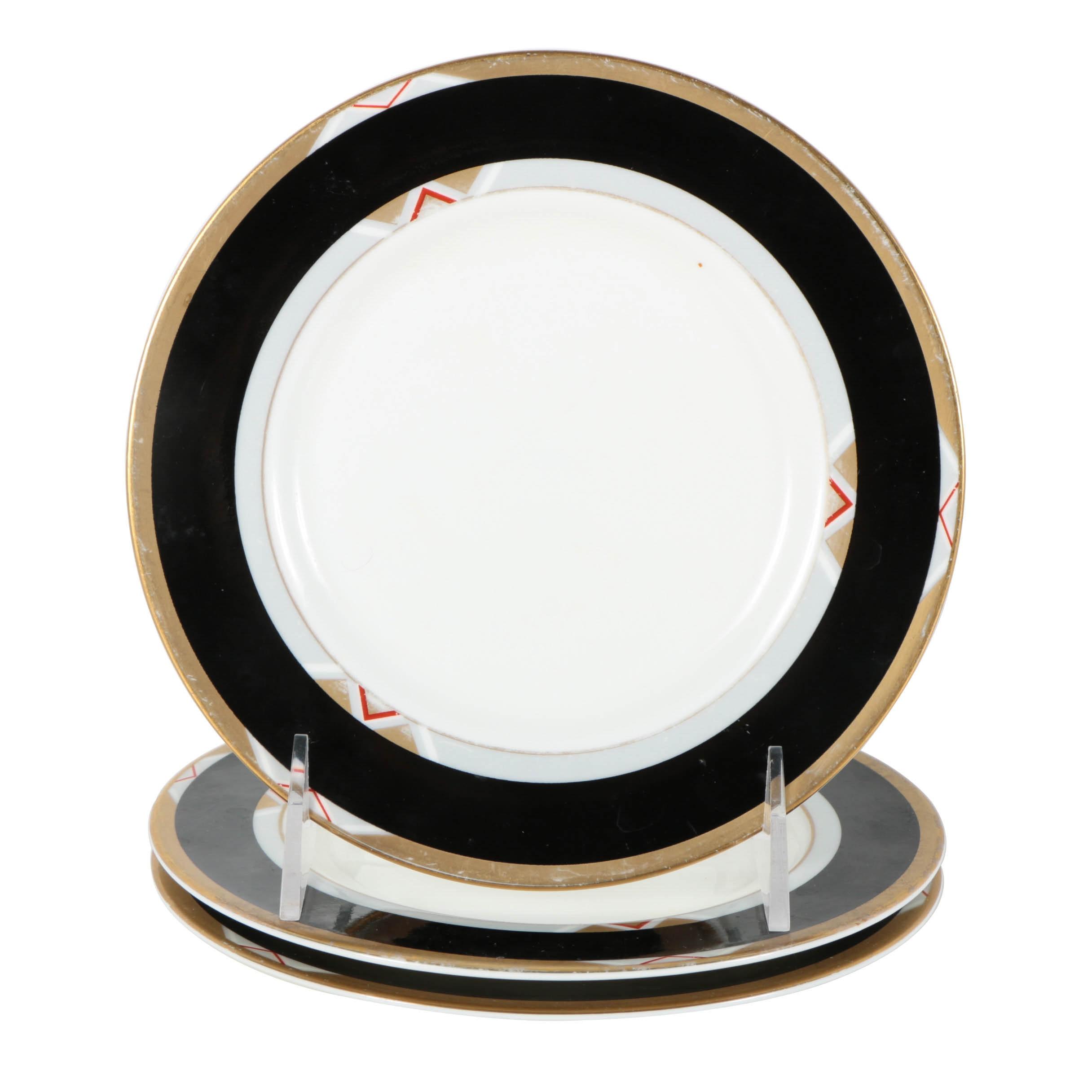 "Mikasa ""Deco Black"" Salad Plates"