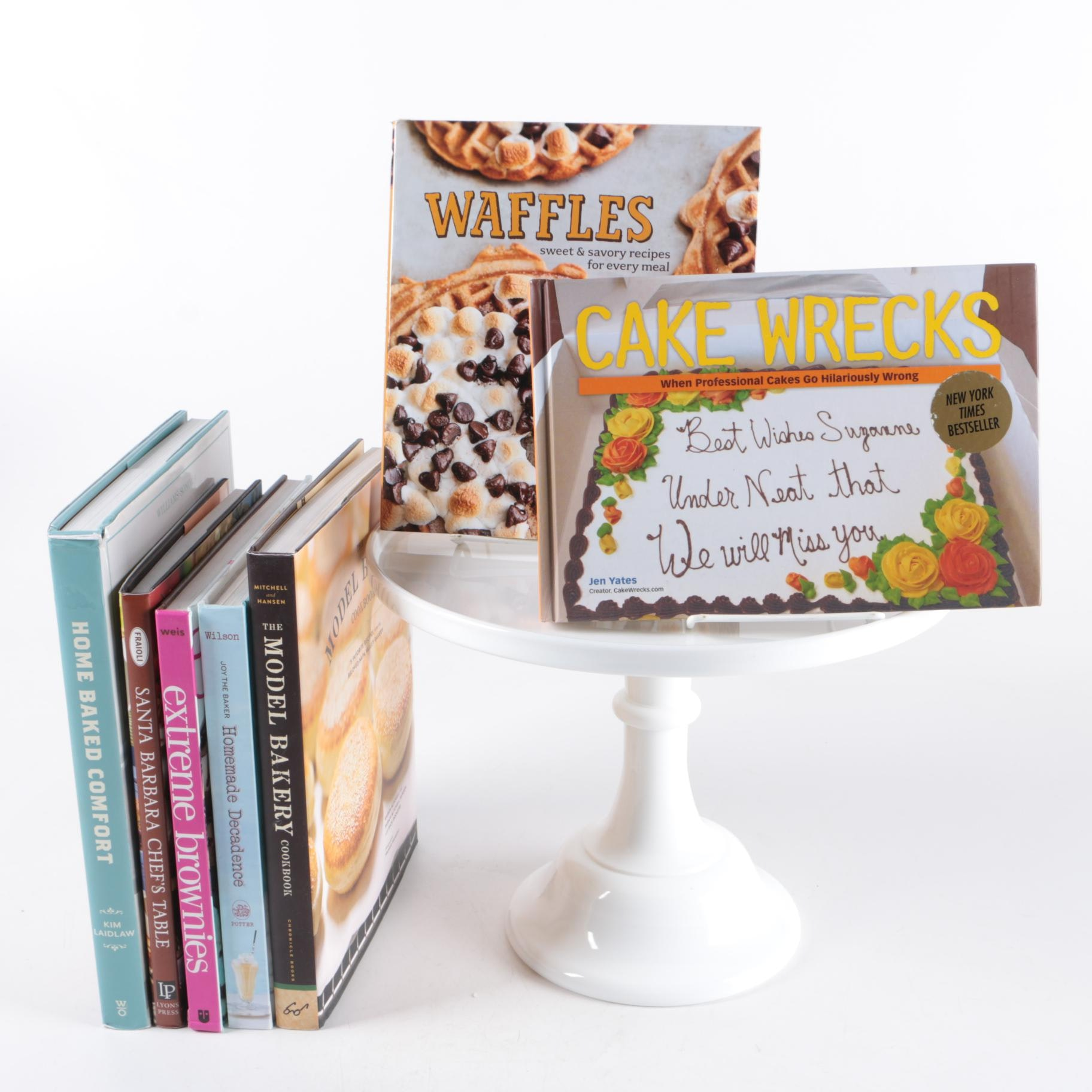 Cake Stand with Cooking and Baking Books