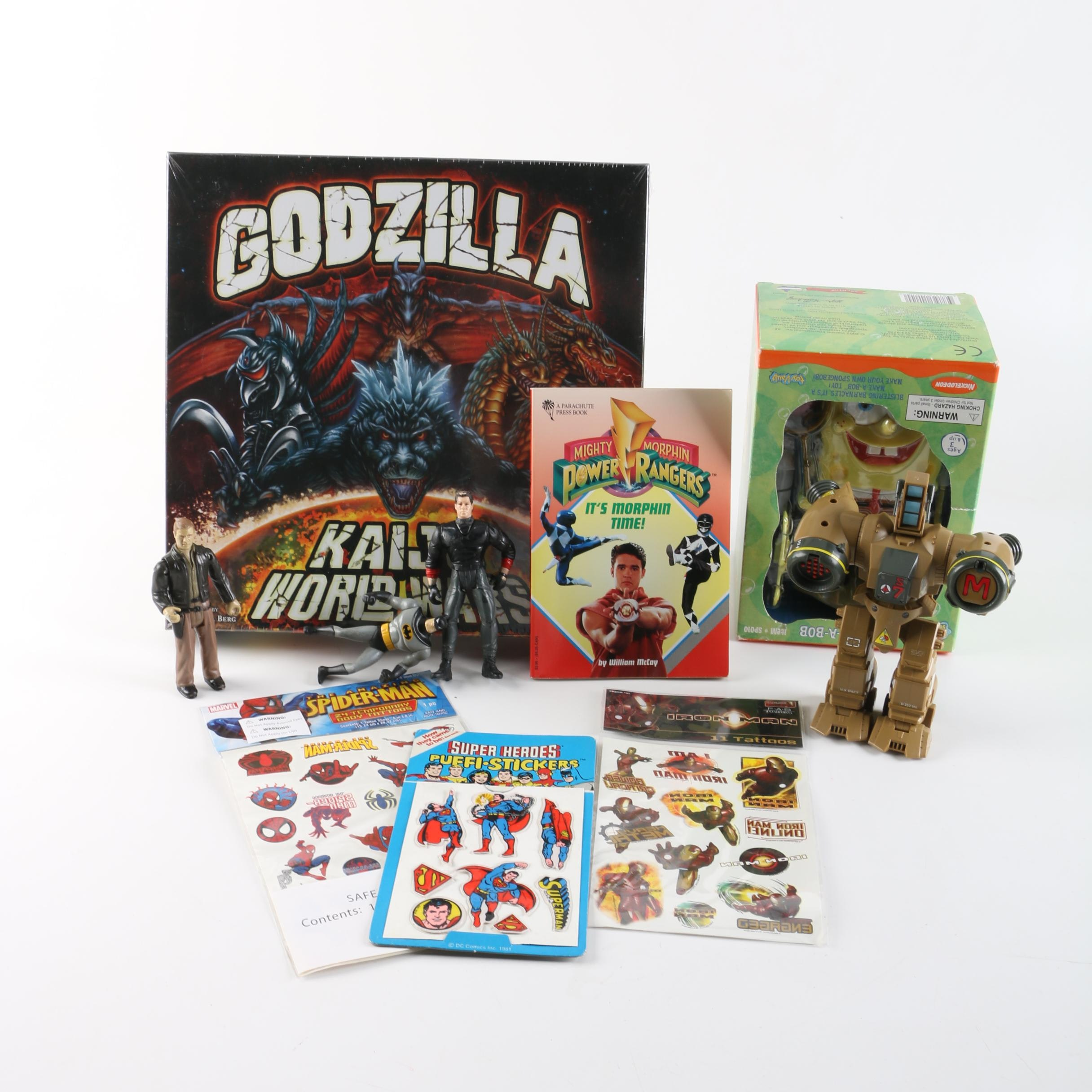 """Action Figures, Stickers, """"Godzilla"""" Board Game, and Other Toys"""