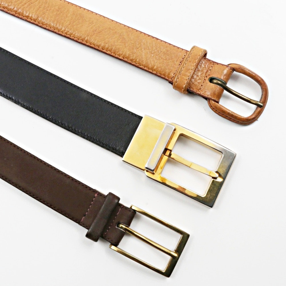Men's Sueded Leather and Leather Belts