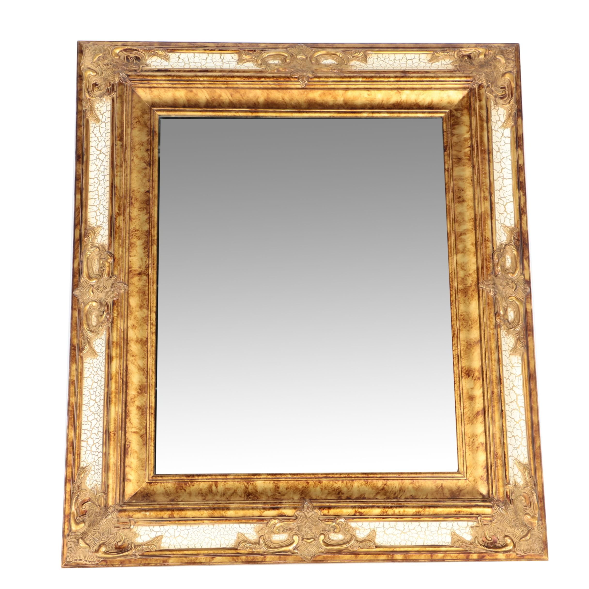 French Style Wood Framed Wall Mirror