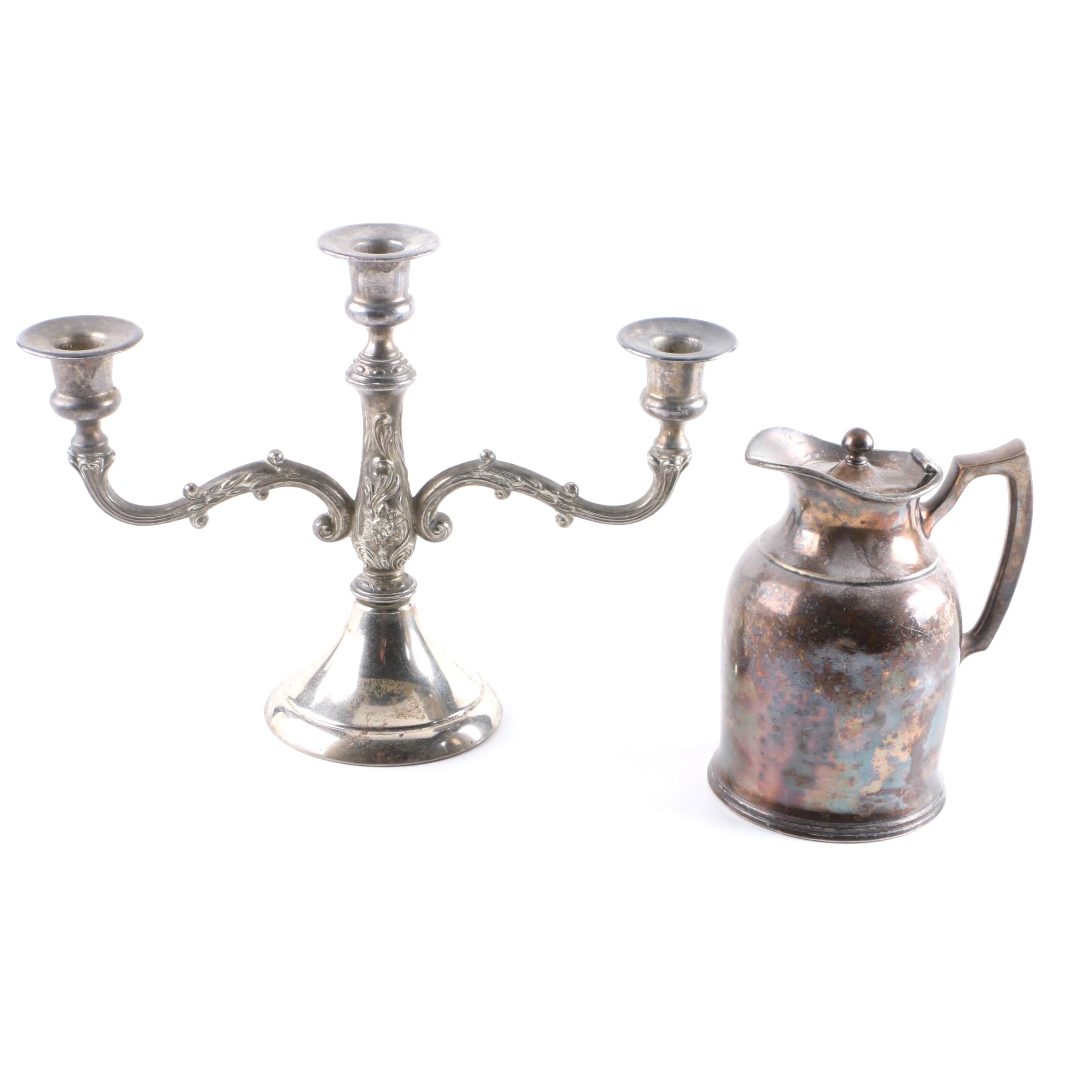 Stanley Insulated Carafe and Silver Tone Candelabra