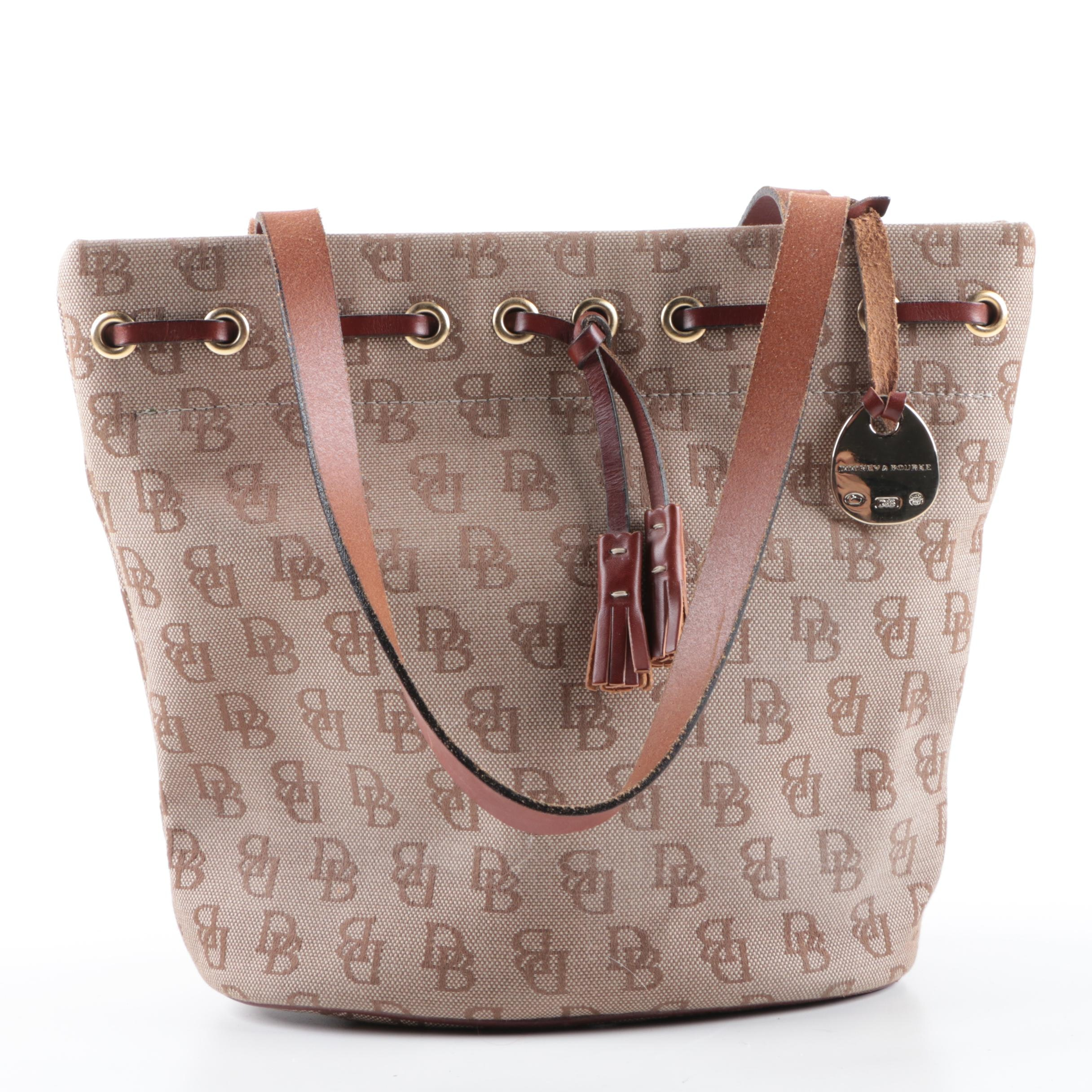 Dooney & Bourke Monogram Canvas Satchel
