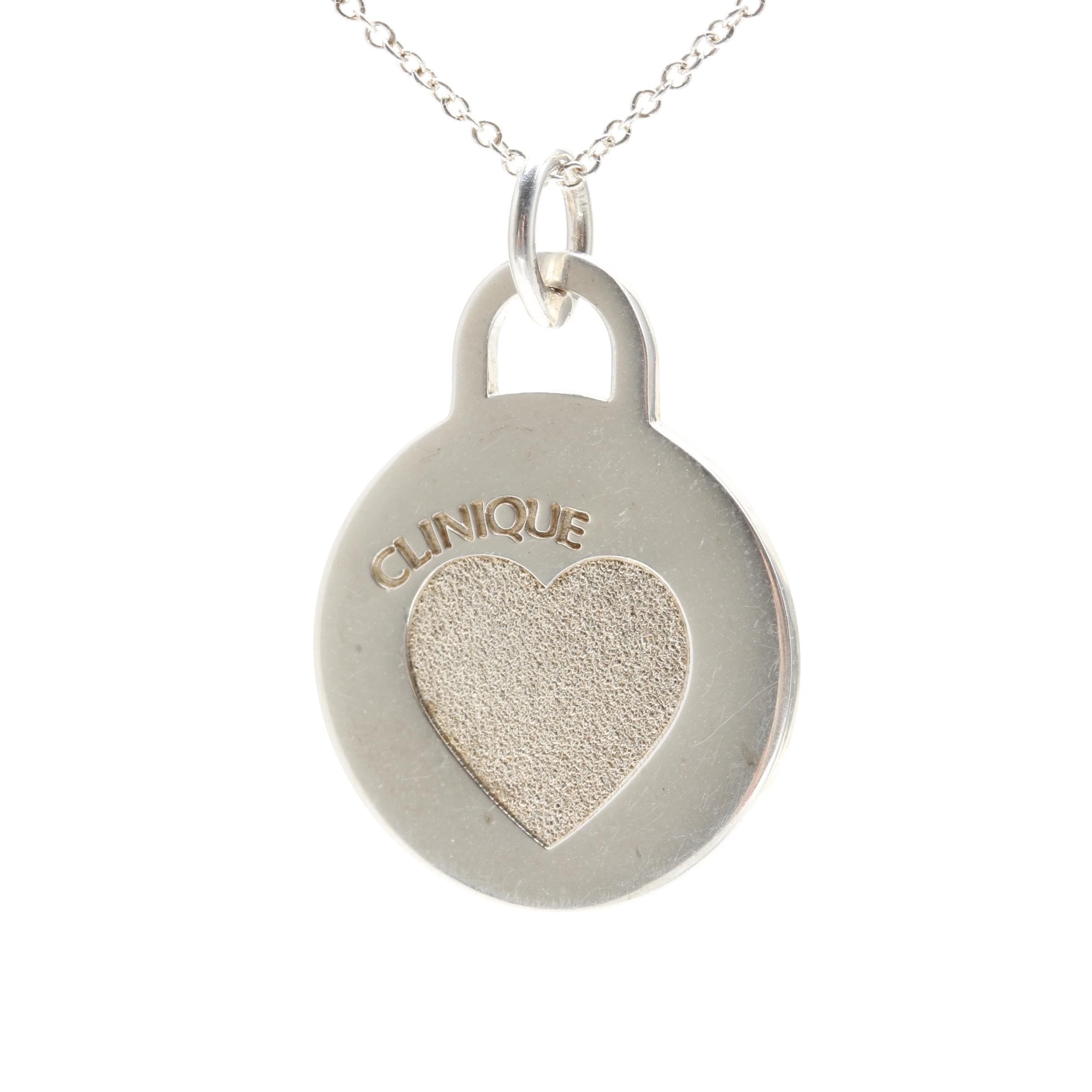 Tiffany & Co. Sterling Silver Clinique Medallion Necklace