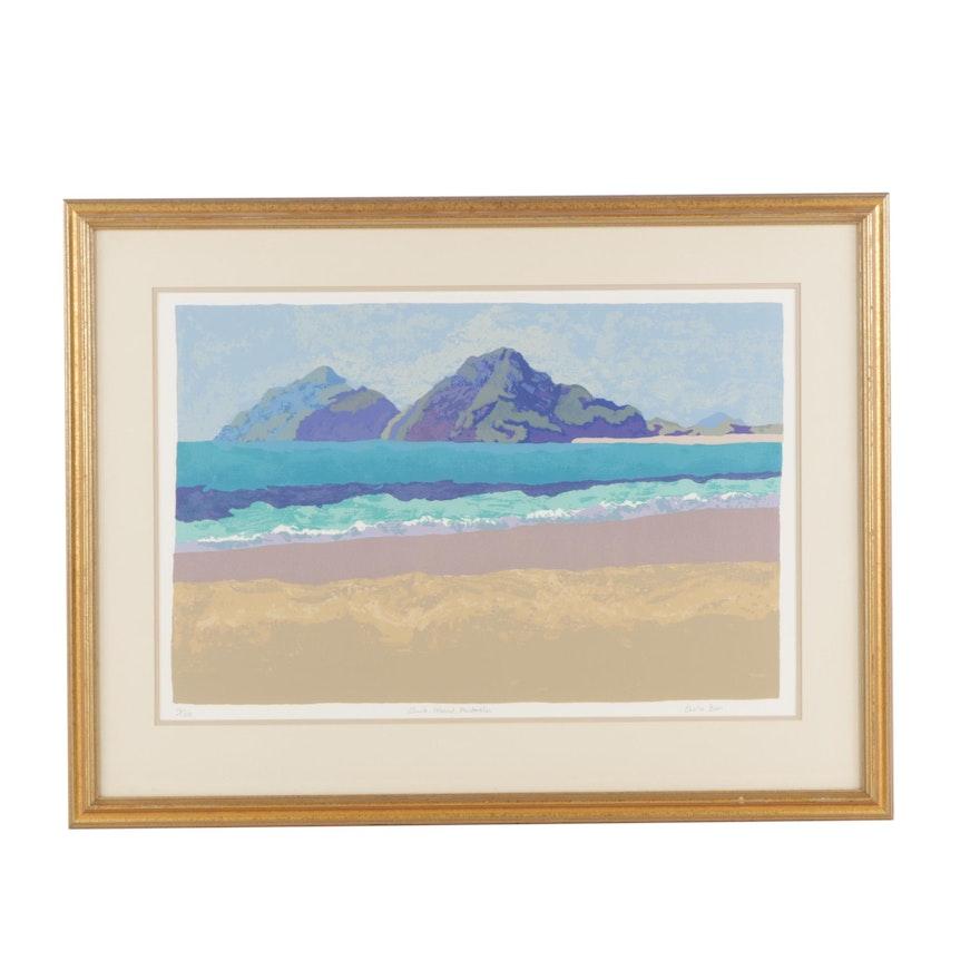 "Dunk Island Australia: Sheila Bion Limited Edition Serigraph ""Dunk Island"