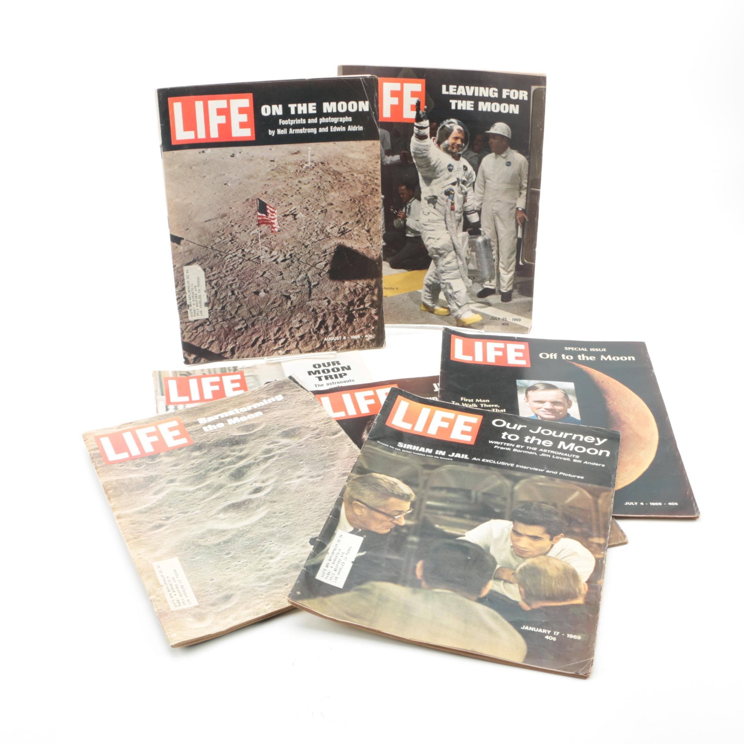 """1969-1970 """"Life"""" Magazines Featuring The Moon Walk"""