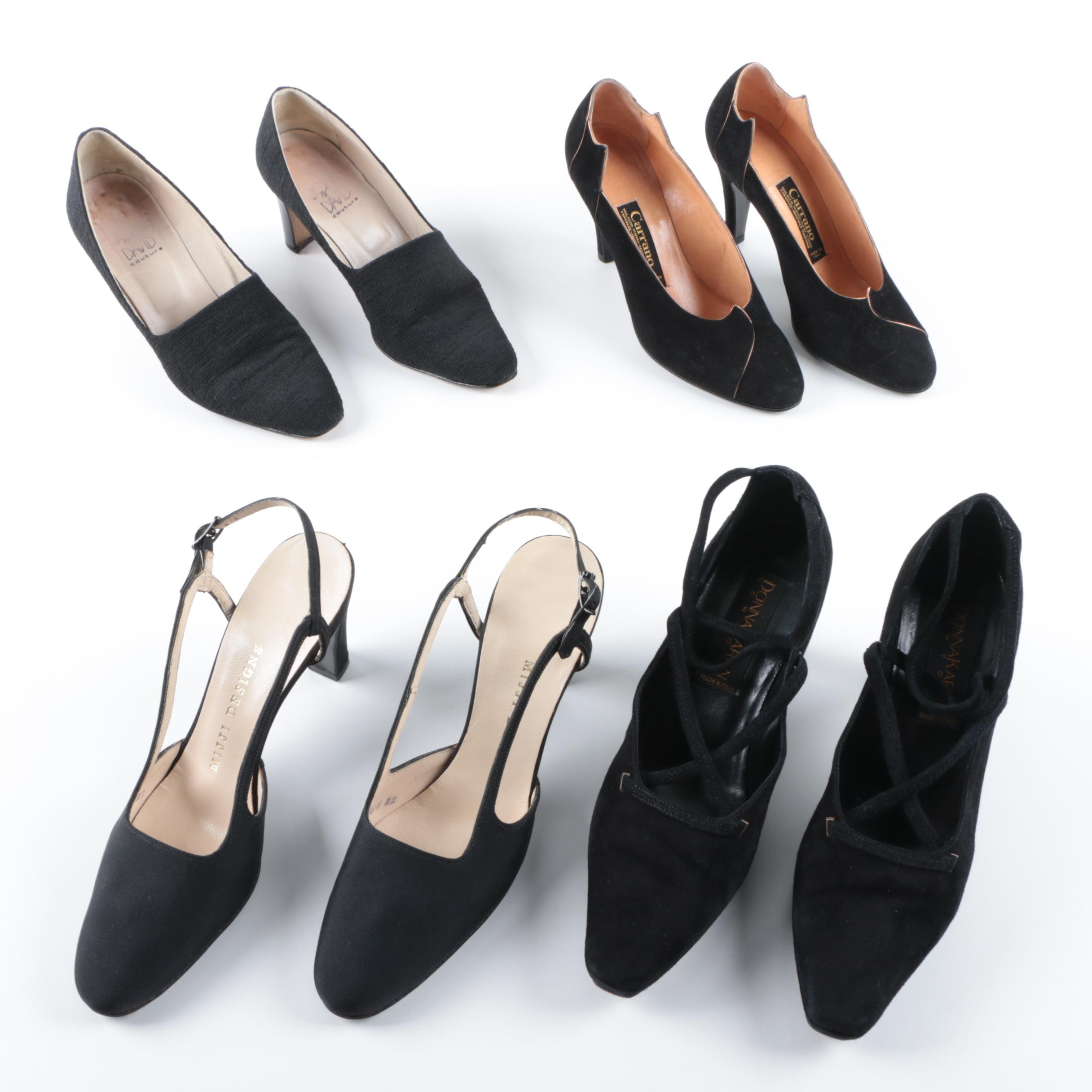 Women's Black Heels Including Joan & David Couture and Donna Karan