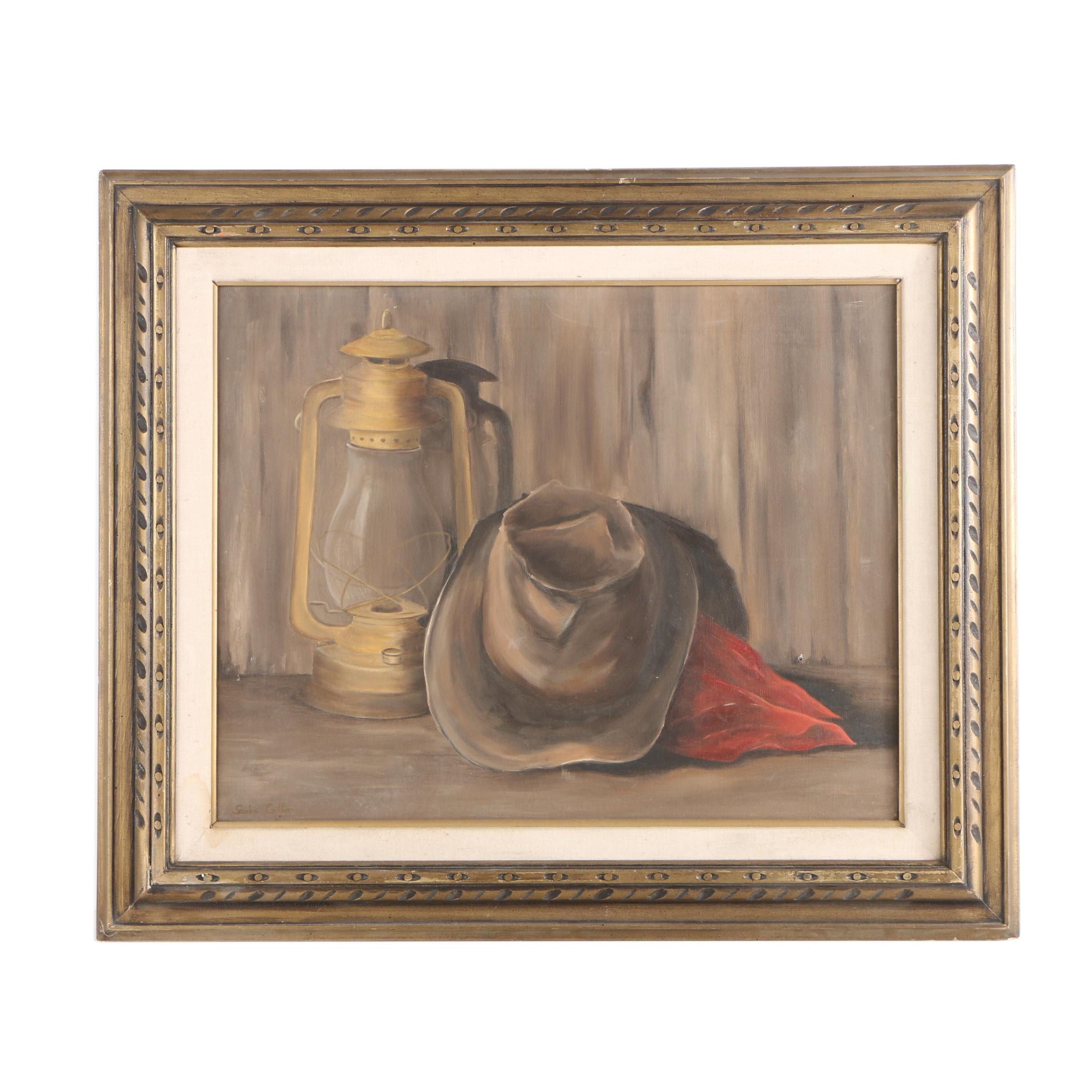 Sandra Griffin 1969 Oil Painting Still Life