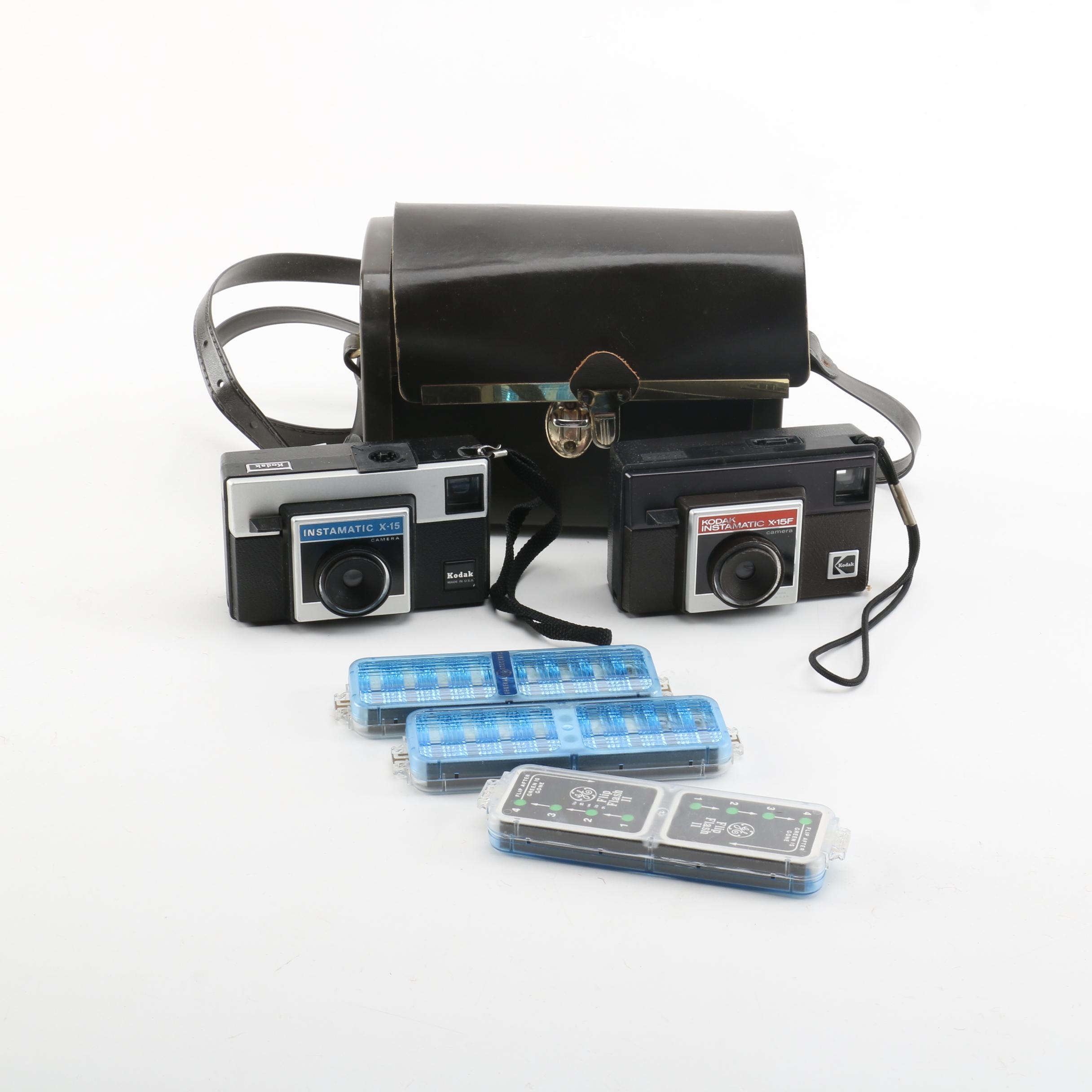 Kodak Instamatics and Case