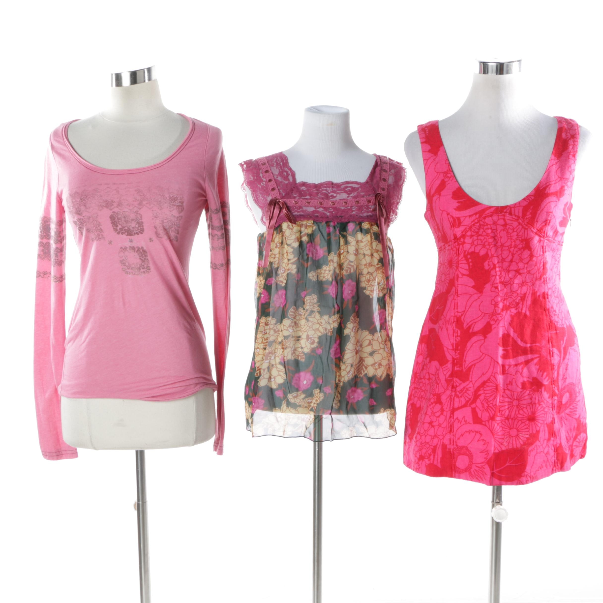 Women's Free People Pink Tops and Mini Dress