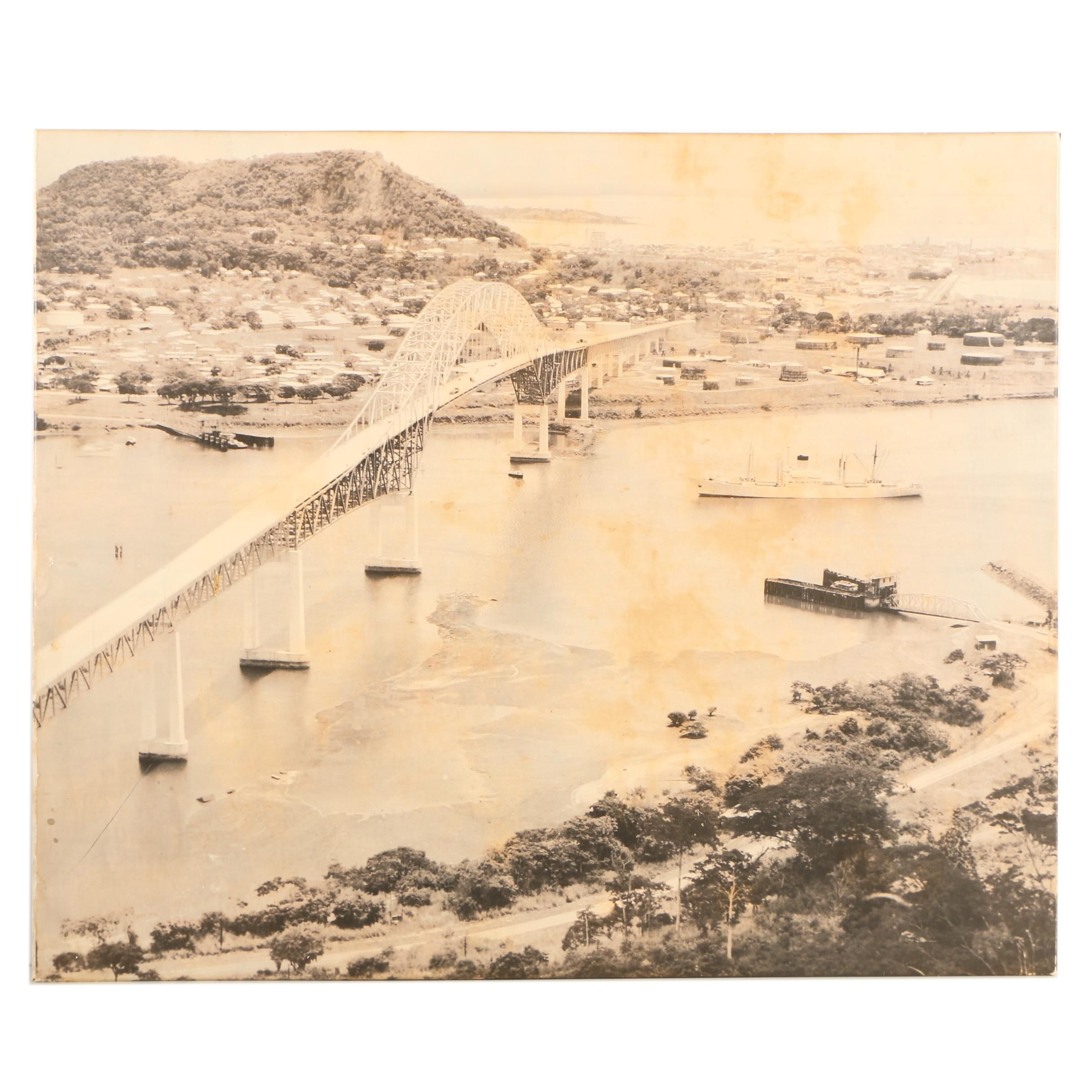 Photographic Enlargement of the Panama Canal