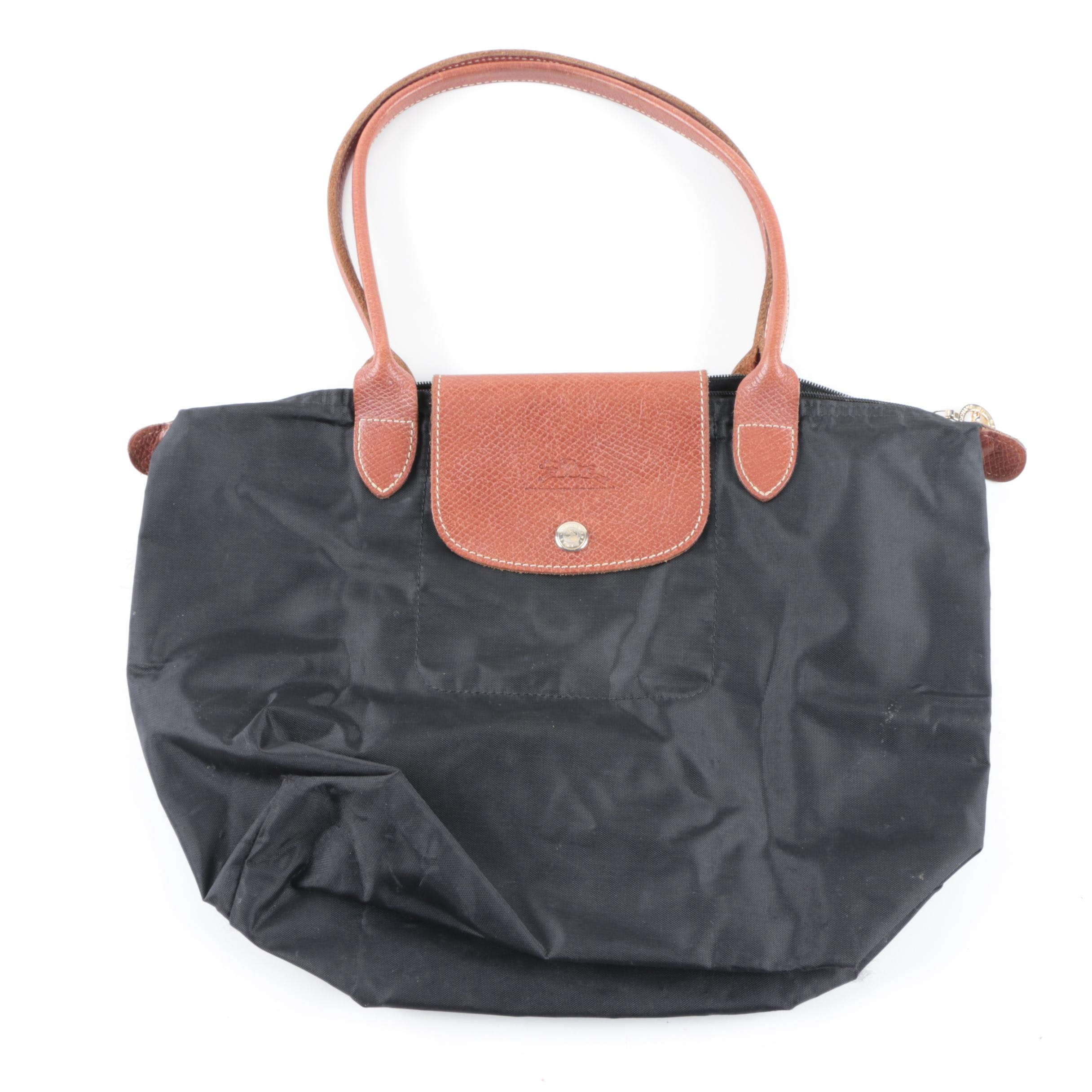Longchamp Le Pliage Black Nylon tote