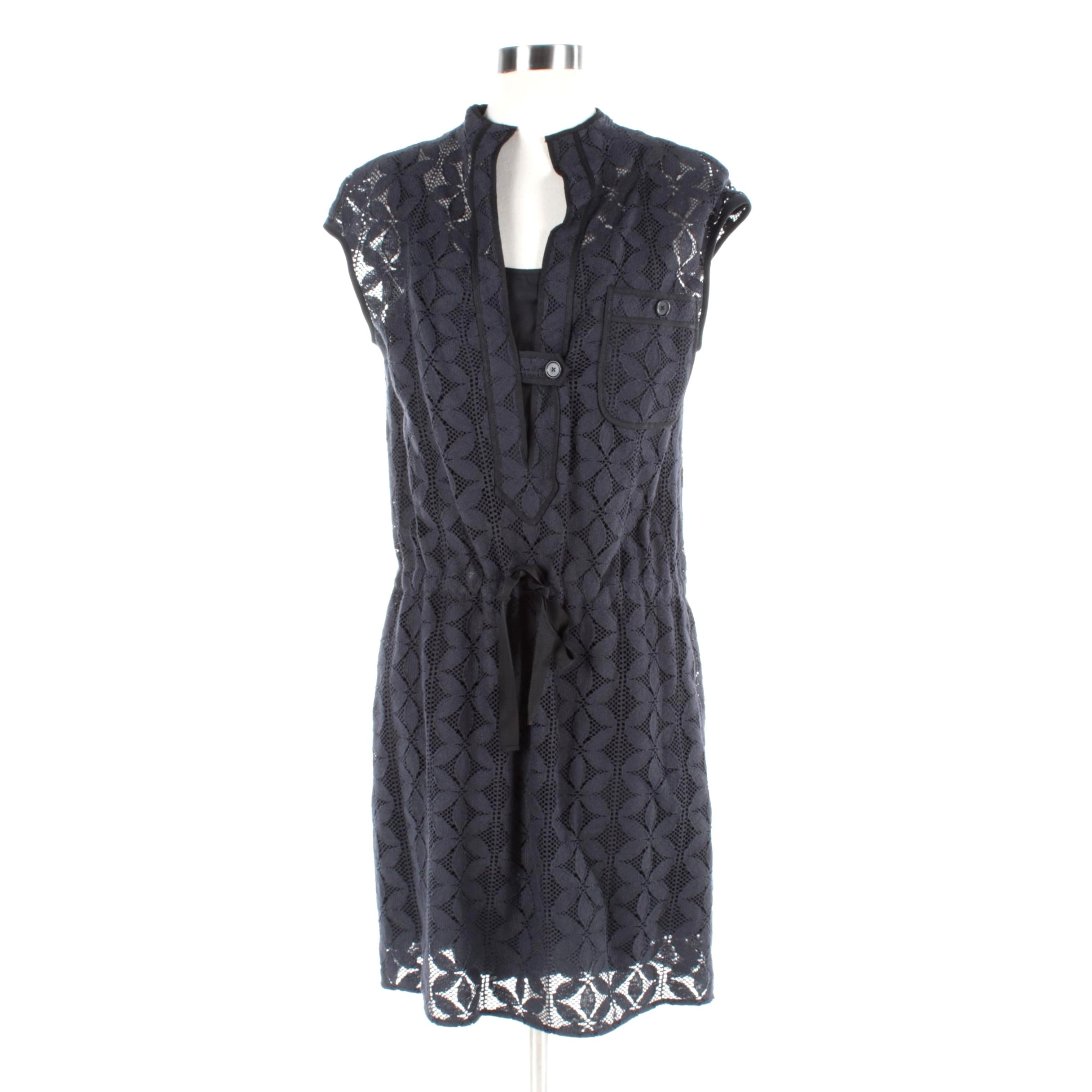 Magaschoni Black Lace Dress