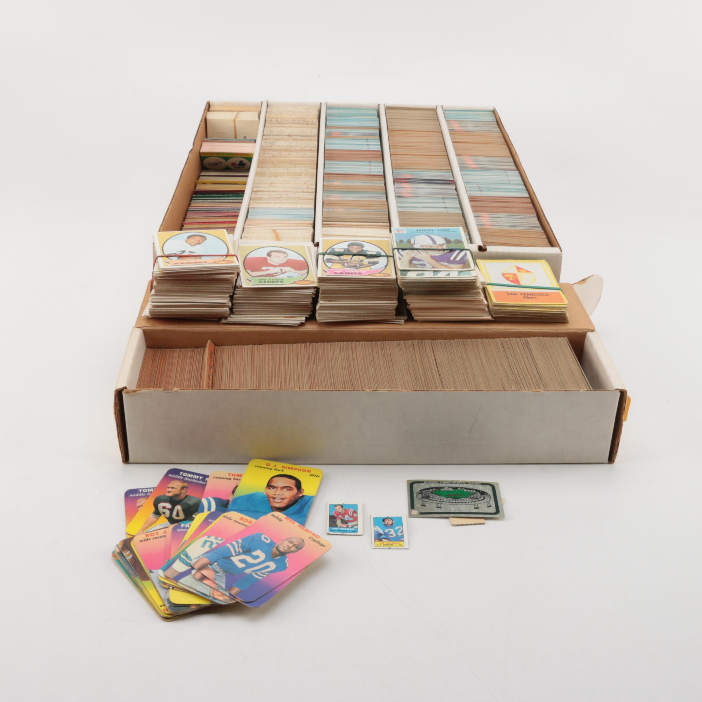 Collection of Vintage 1960s-1970s Football Cards