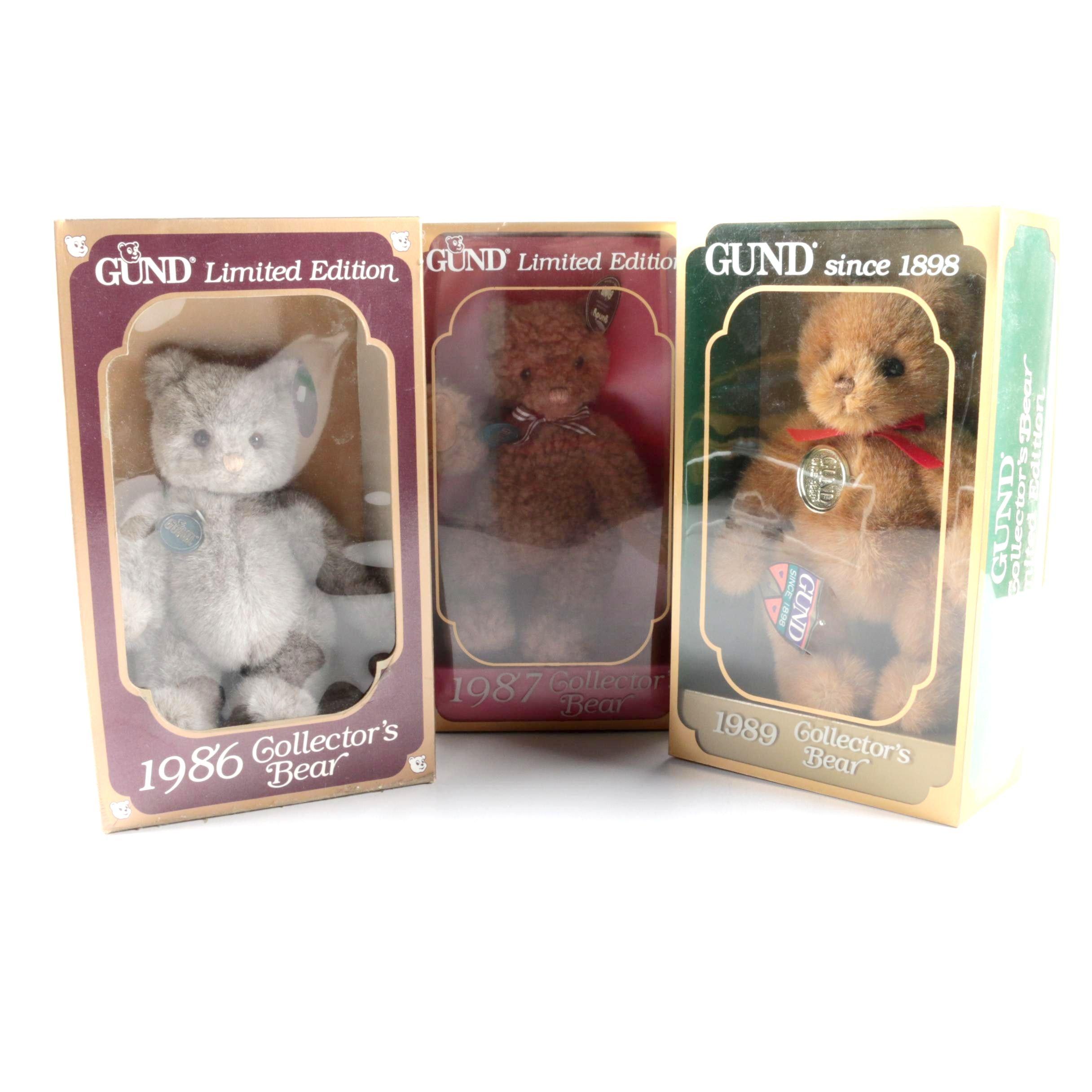 1980s Gund Limited Edition Teddy Bears
