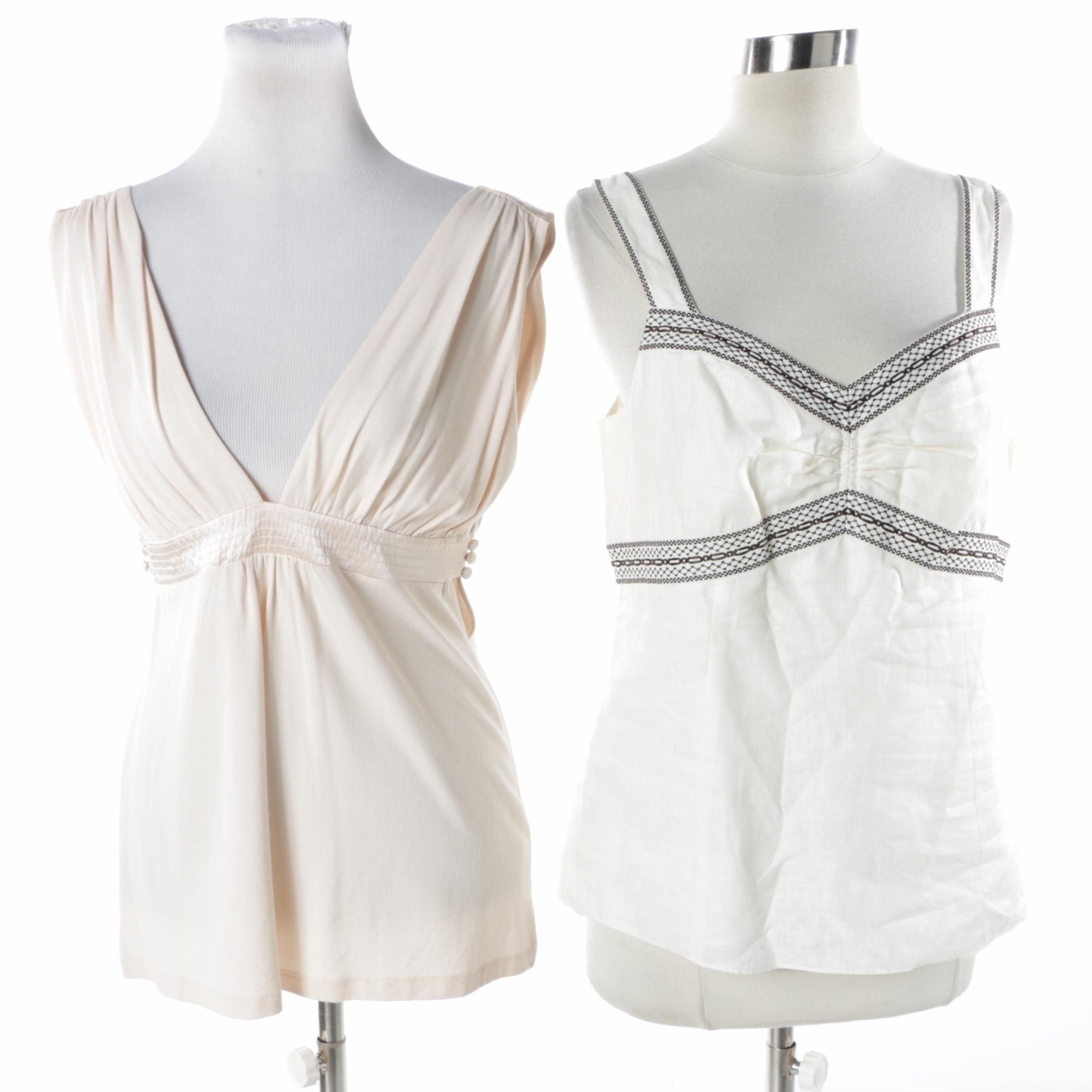 Bebe and Ann Taylor Sleeveless Tops