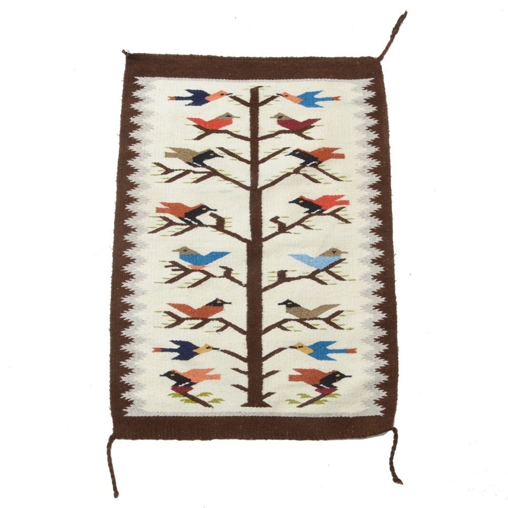 Handwoven Mexican Tree of Life Wool Rug