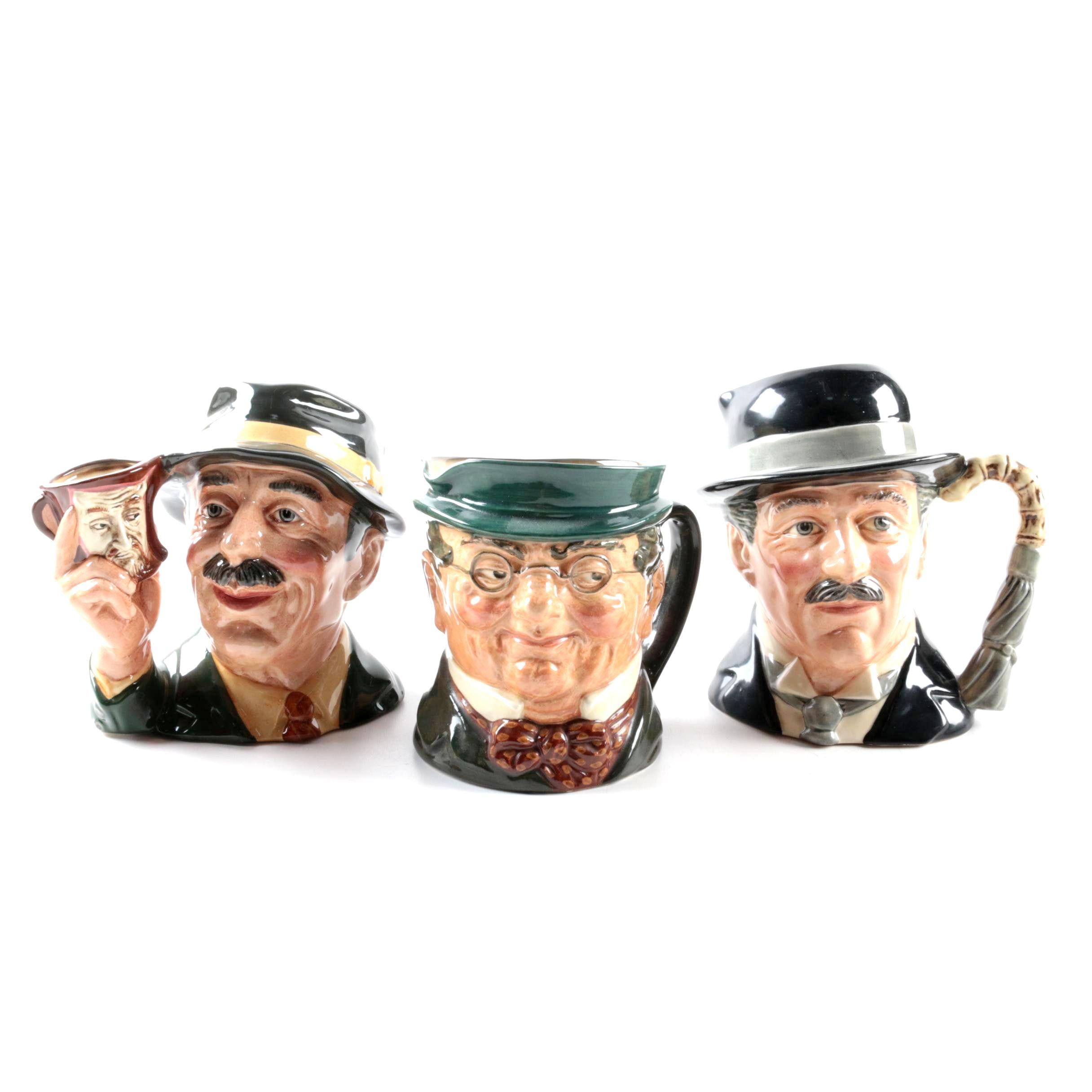 """Royal Doulton """"City Gent,"""" """"The Collector"""" and """"Mr. Pickwick"""" Character Jugs"""