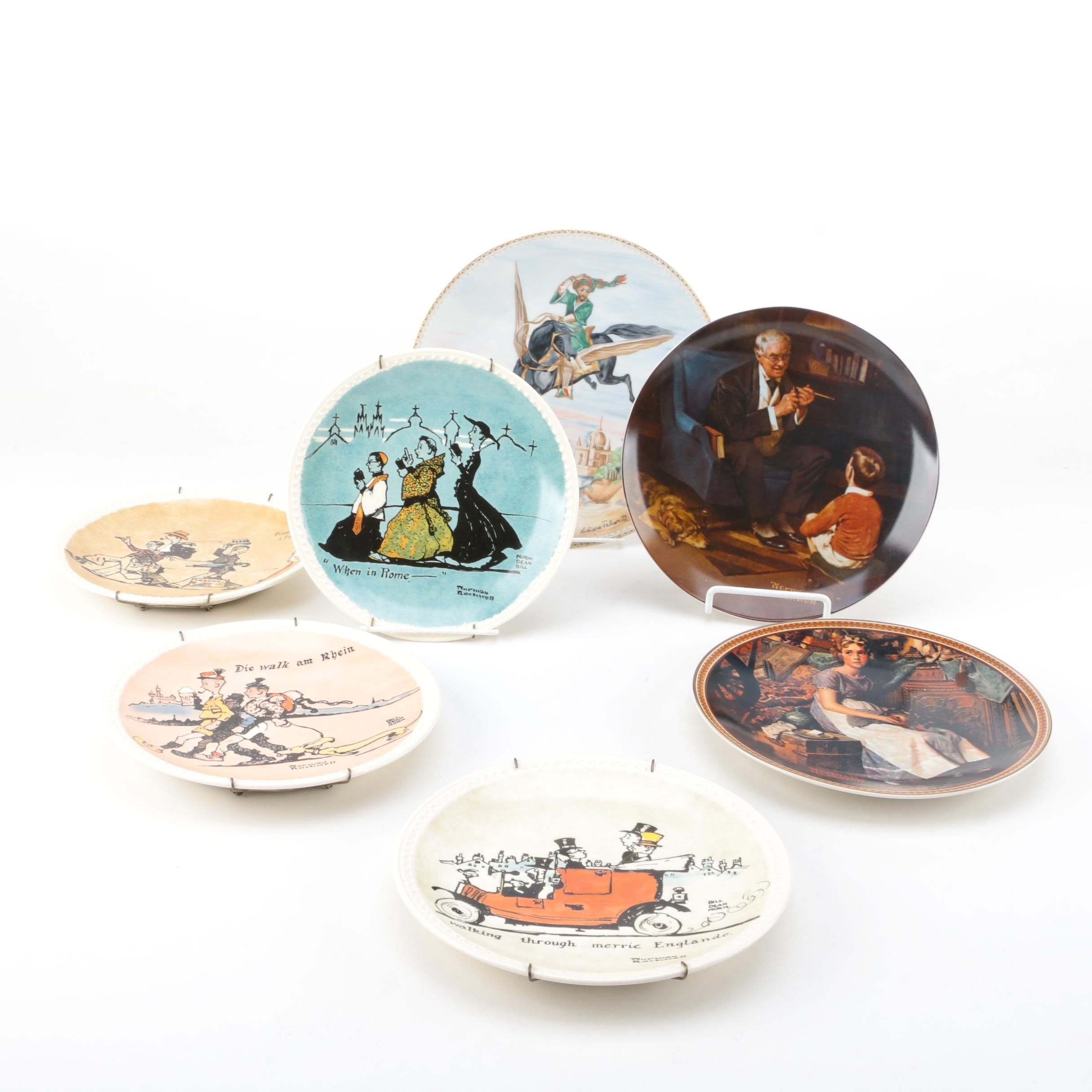 Vintage Commemorative Plates Featuring Limoges