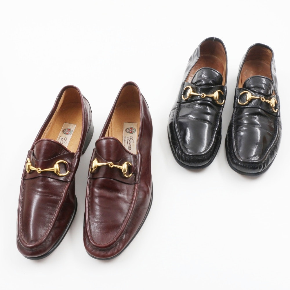 Two Pairs of Gucci Loafers