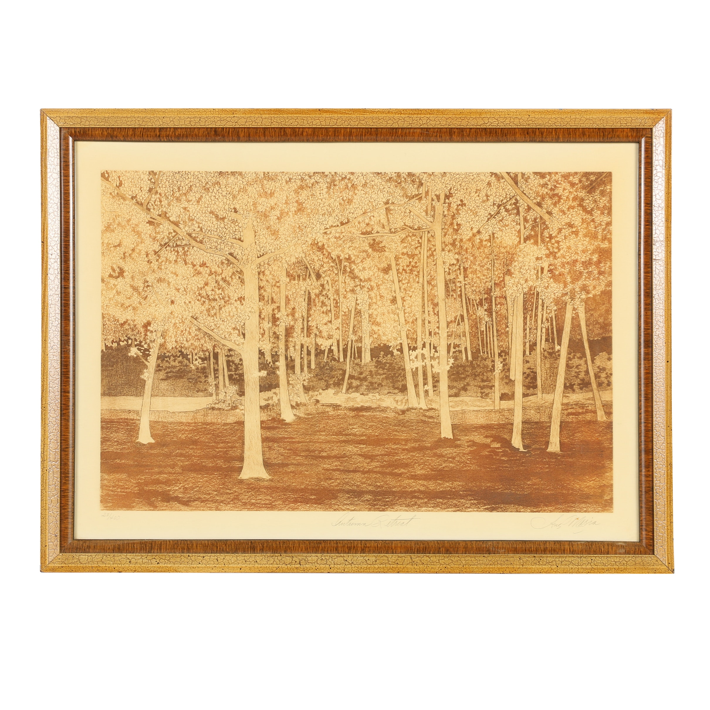"Ave Maria Etching ""Autumn Retreat"""