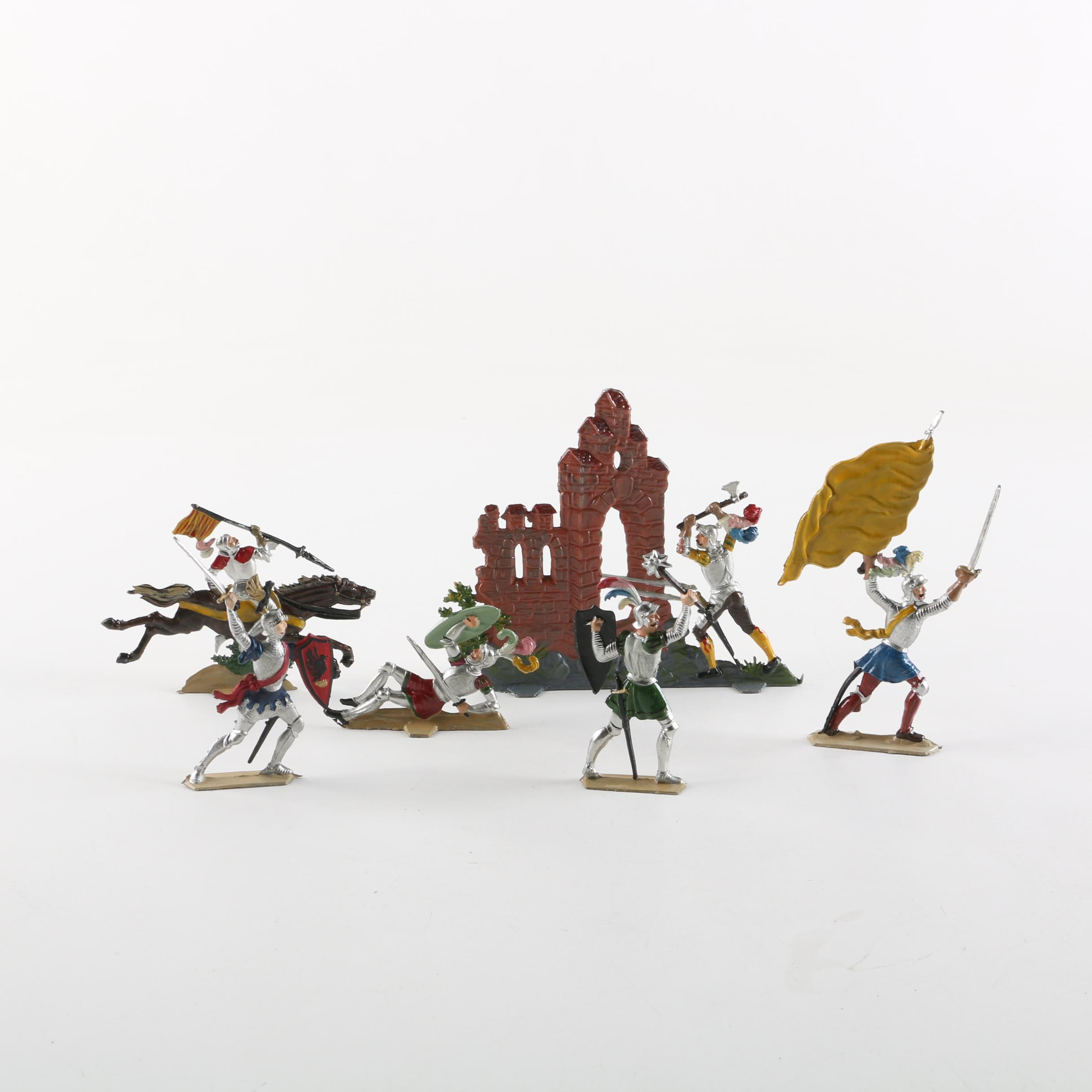 Die Cast Castle and Knight Figures