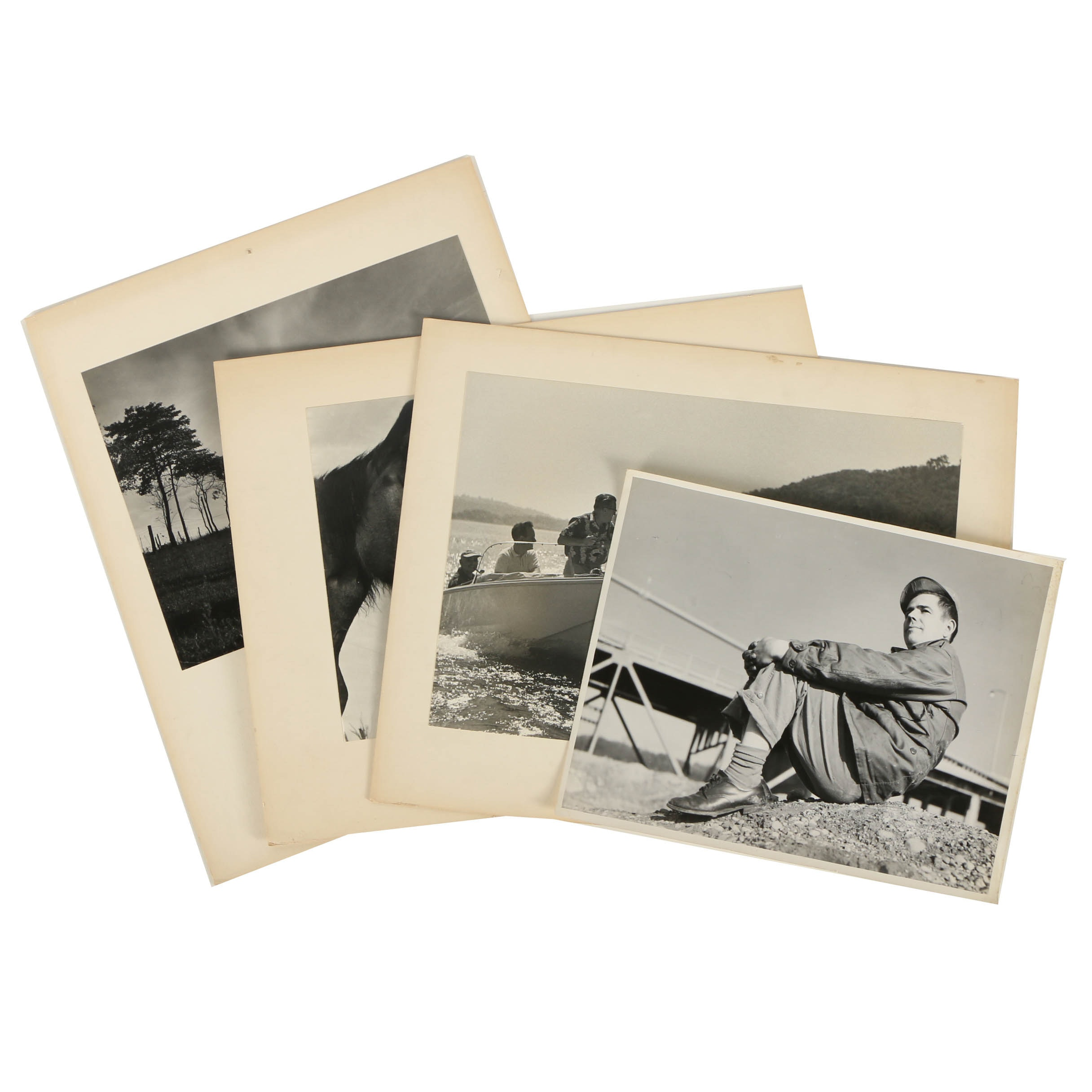 Four Don Dover Black and White Photographs Including a Self Portrait