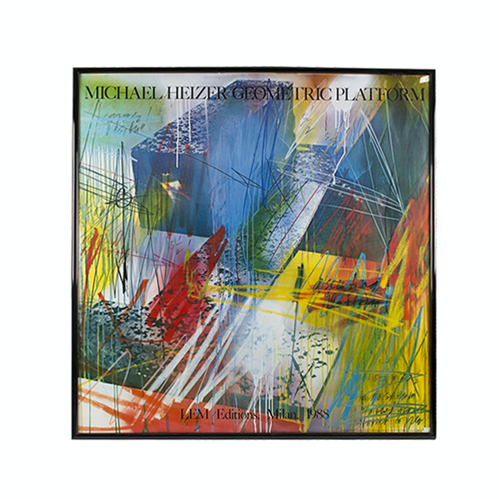 "Offset Lithograph Poster After Michael Heizer ""Geometric Platform"""