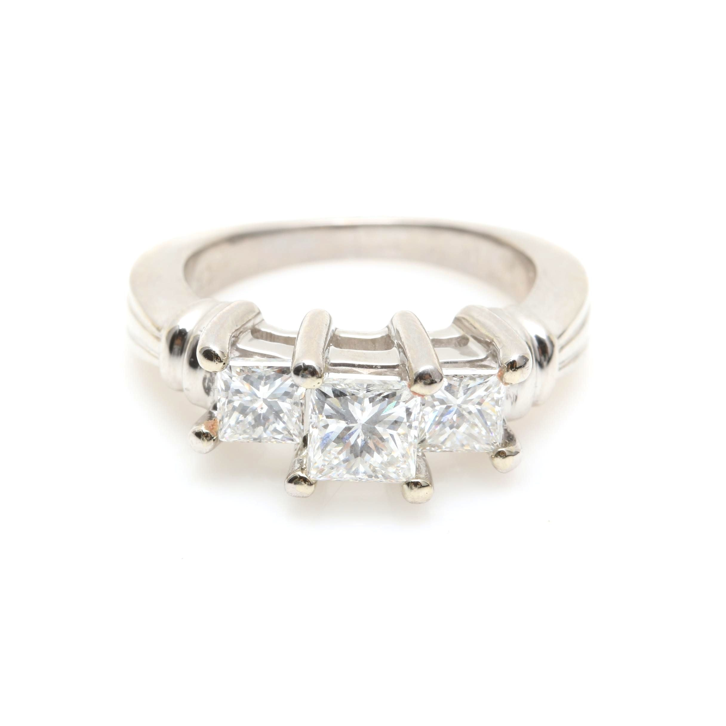 Platinum 1.34 CTW Diamond Ring