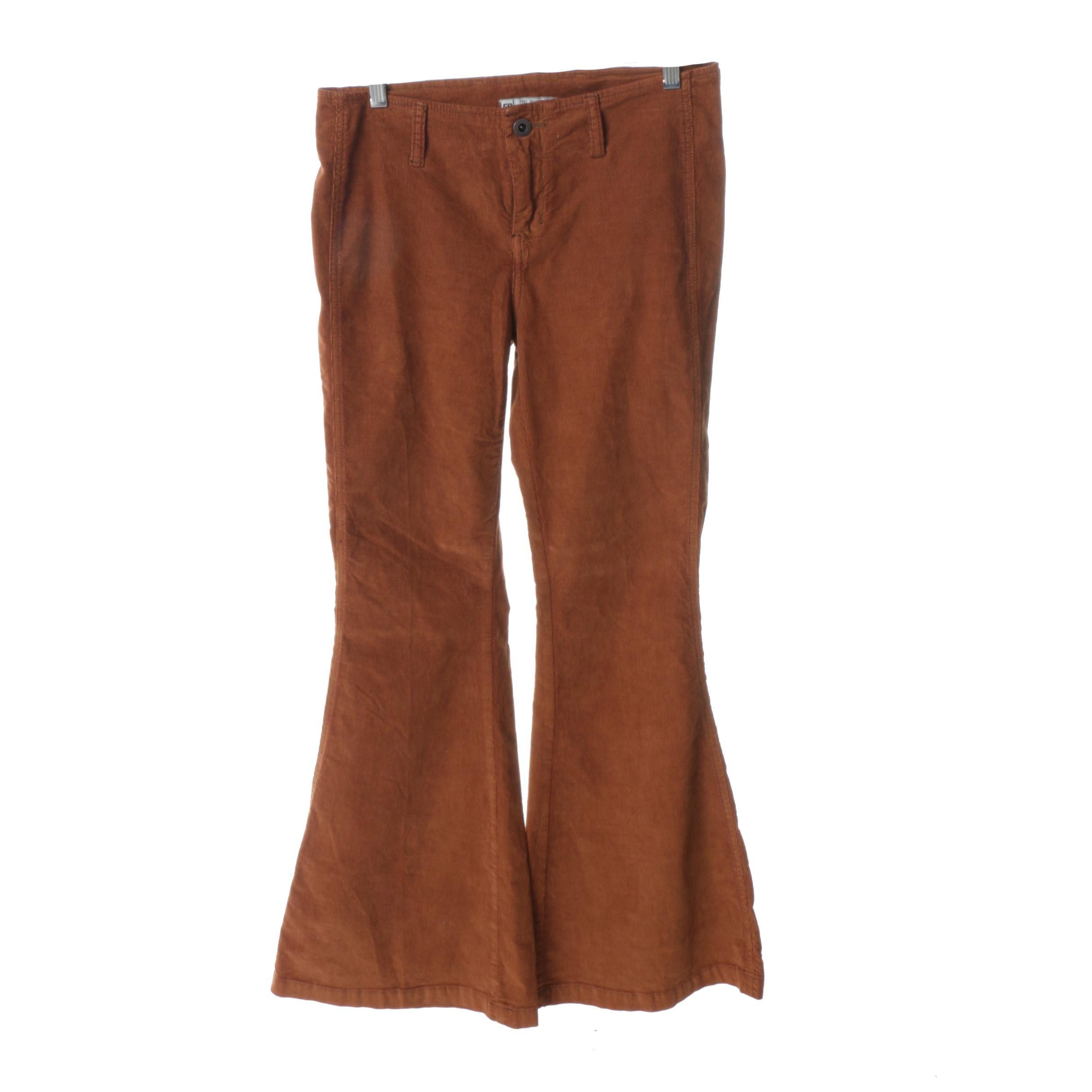 Free People Bell Bottom Corduroy Pants