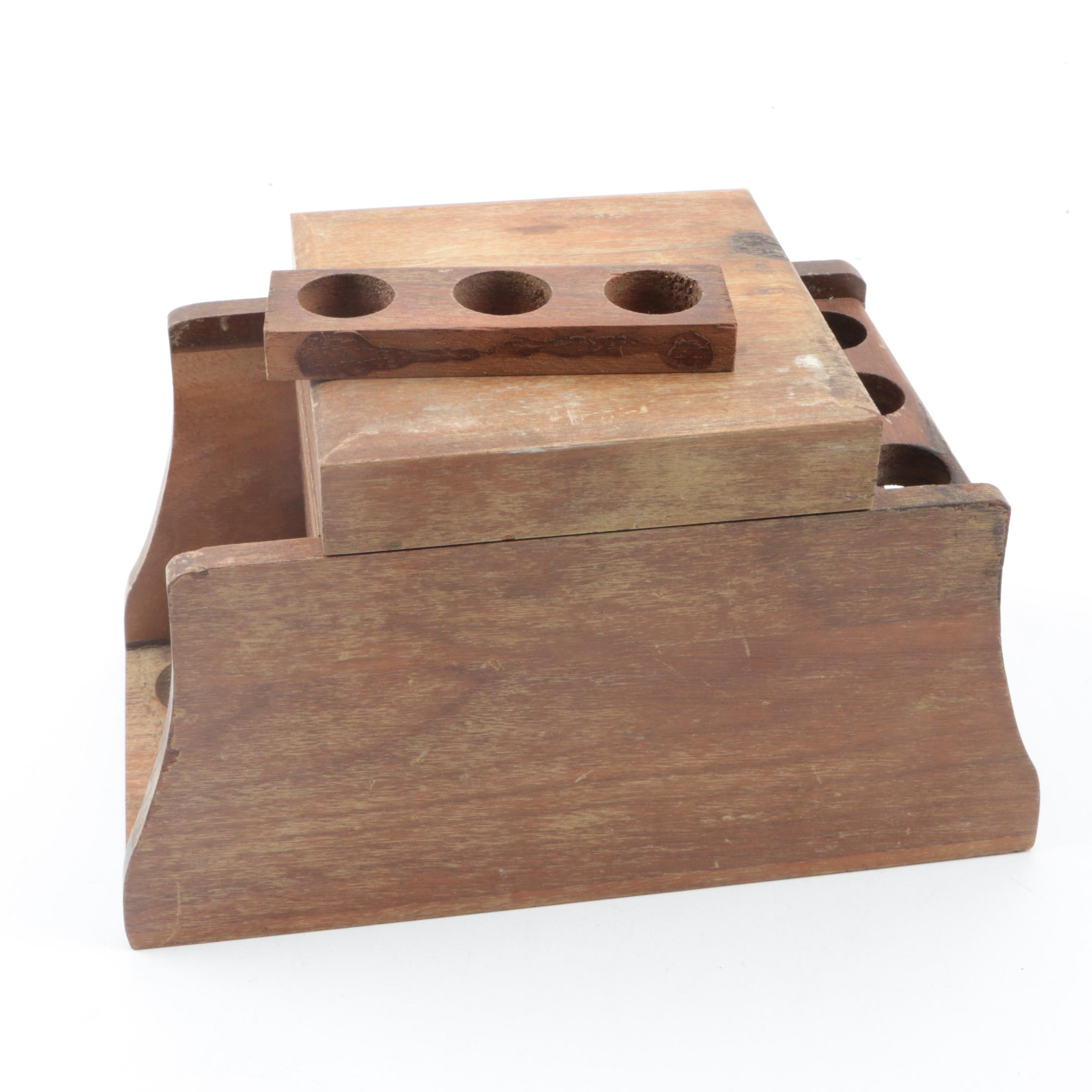 Wooden Pipe Rack and Humidor