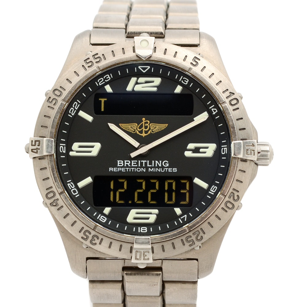 "Breitling Titanium ""Aerospace"" Wristwatch"