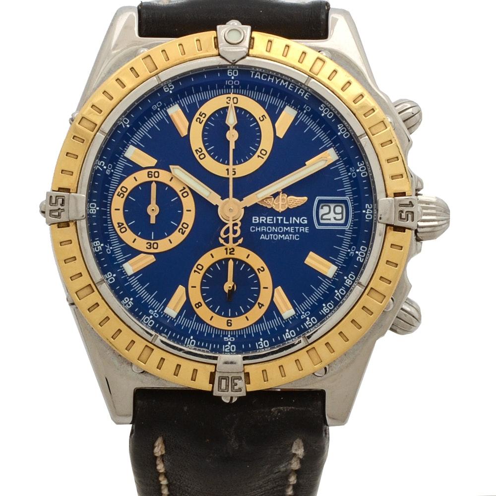 """Breitling 18K """"Chronomat"""" Gold and Stainless Steel Chronom"""