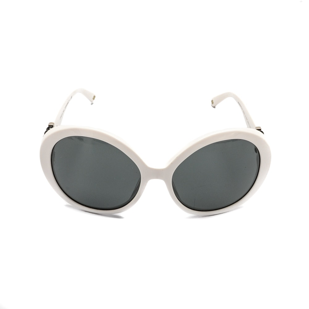Chanel Collection Perle Modified Cat Eye Sunglasses with Case