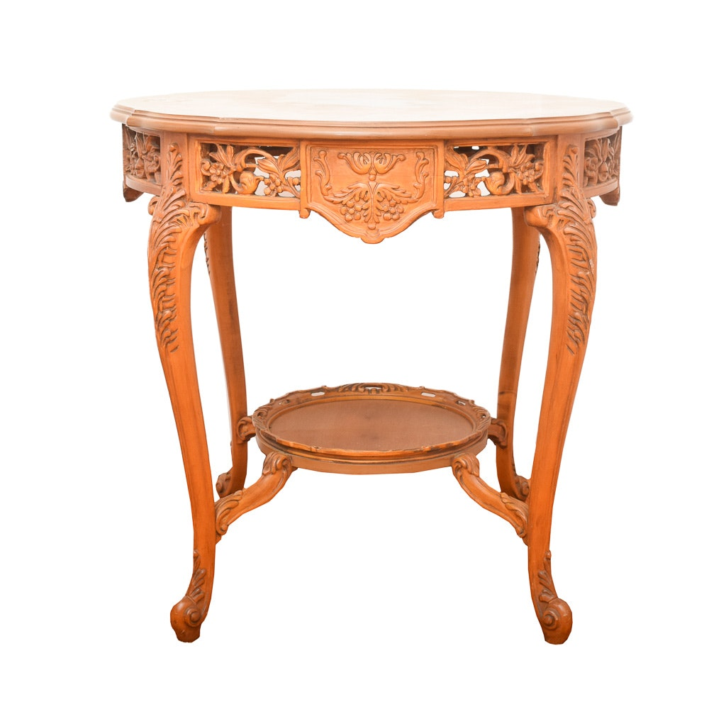 French Marquetry Accent Table ...