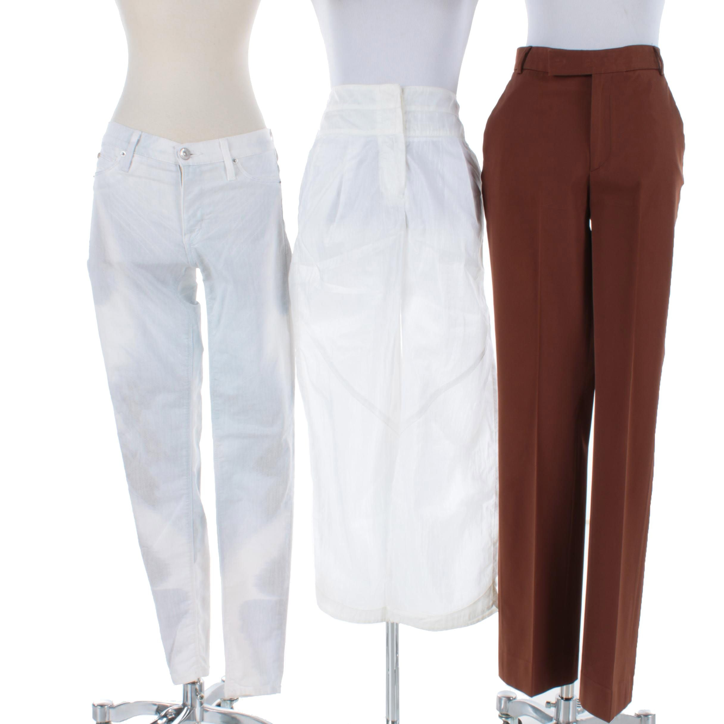 Women's Pants Including AJ Armani Jeans and Hudson