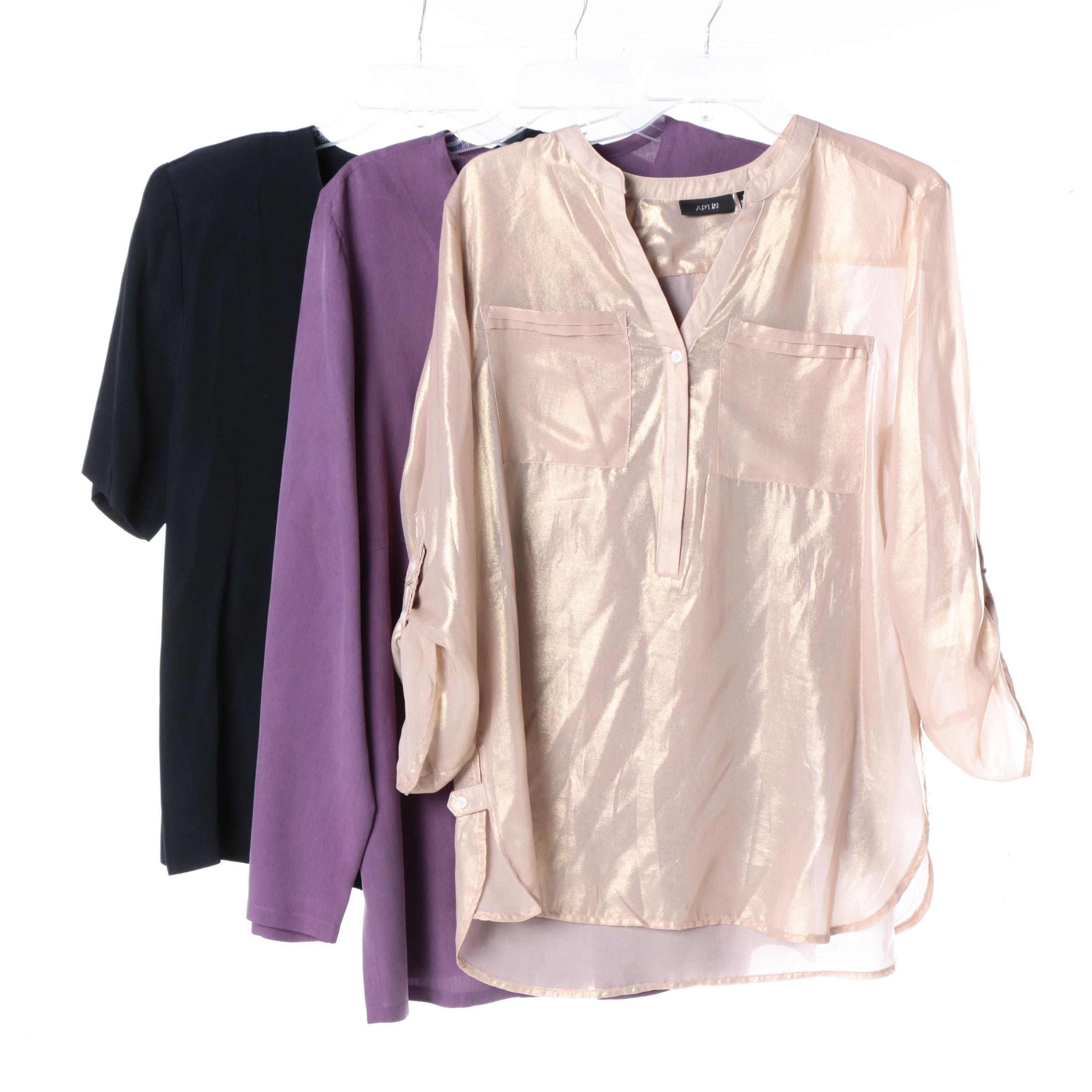 Women's Blouses, Including August Silk