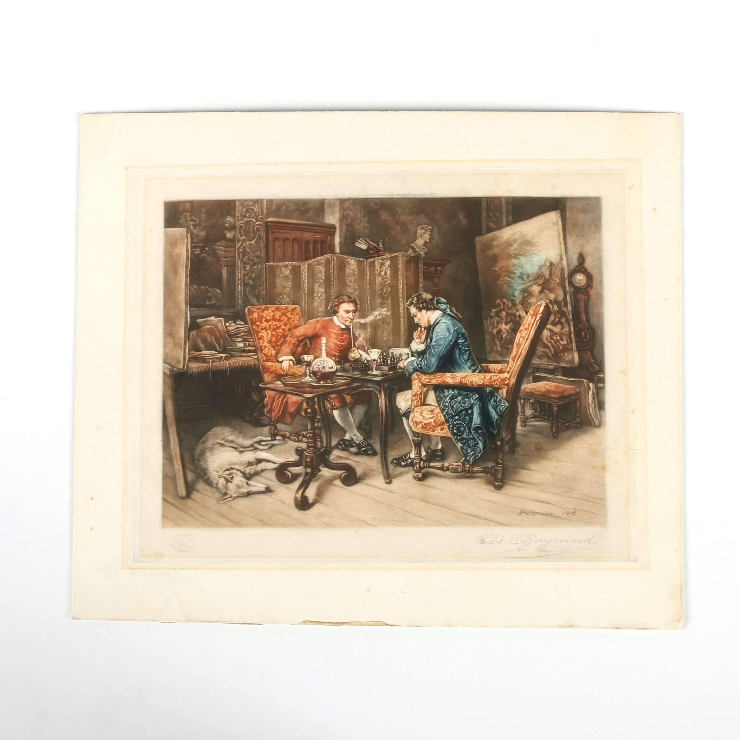 Antoine Gaymard Reproduction Print on Panel After Jean Meissonier