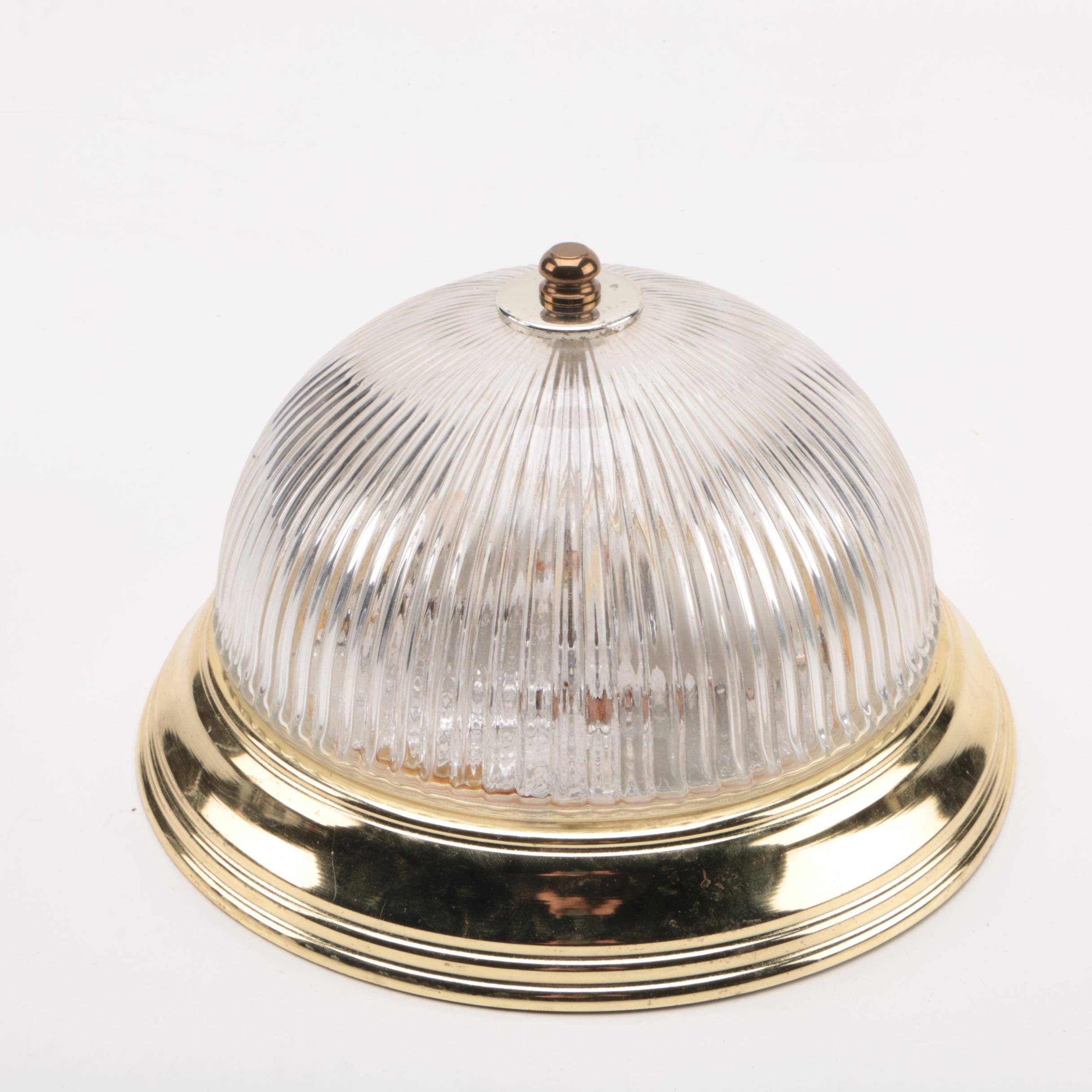 Glass Dome Ceiling Light Fixture