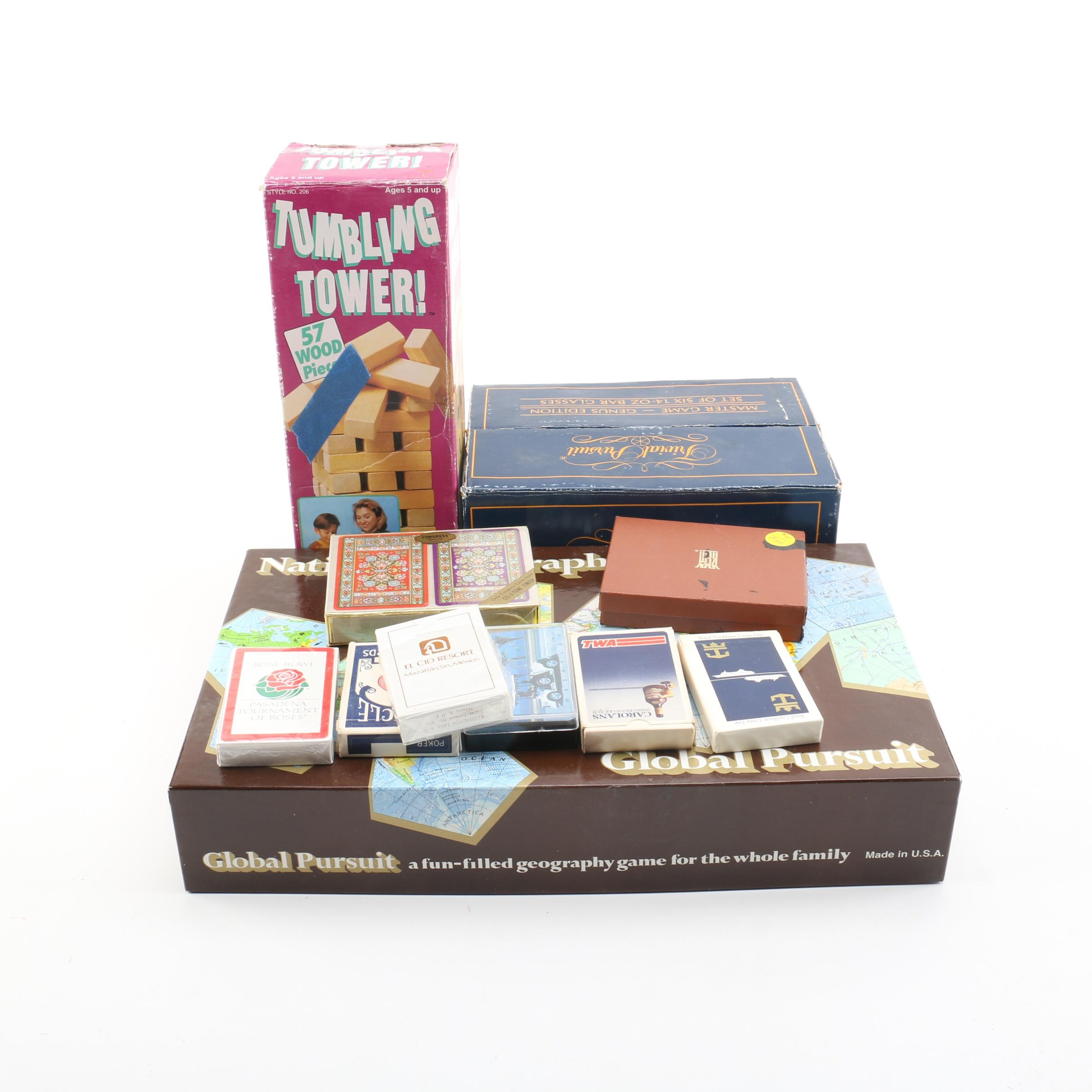 National Geographic Board Game, Trivial Pursuit Bar Glasses, and More