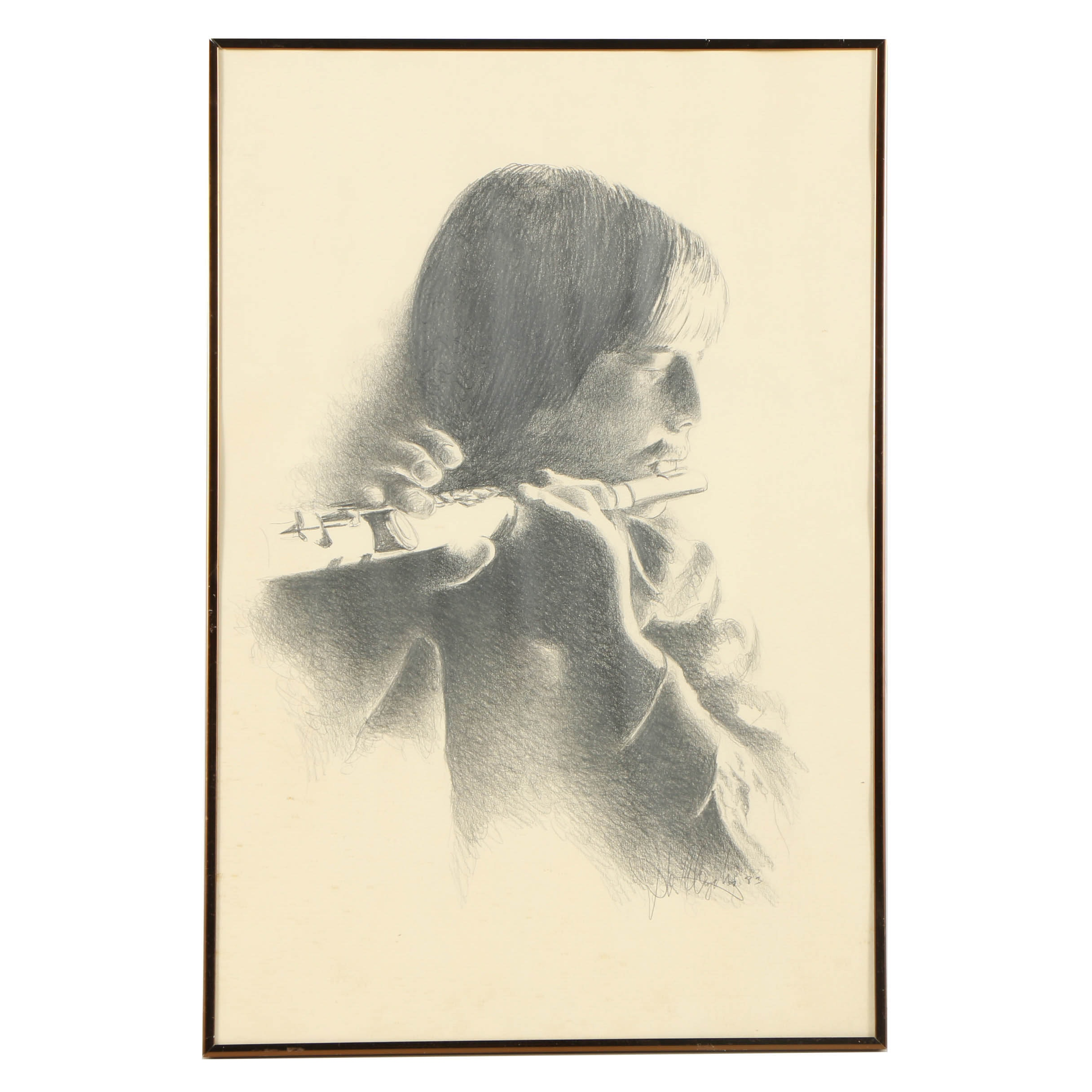Late 20th-Century Graphite Drawing