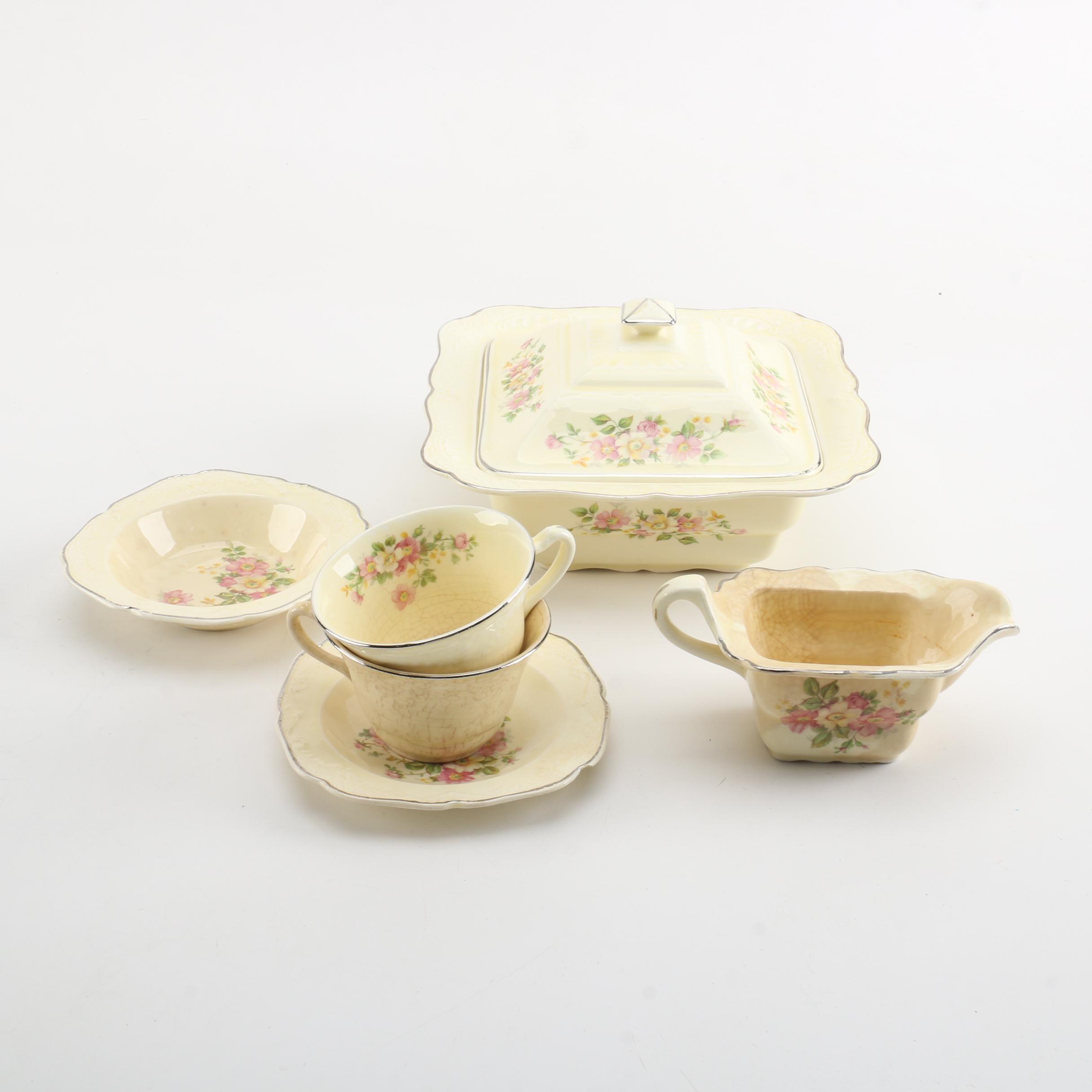 1930s Paden City Pottery Ironstone Serveware