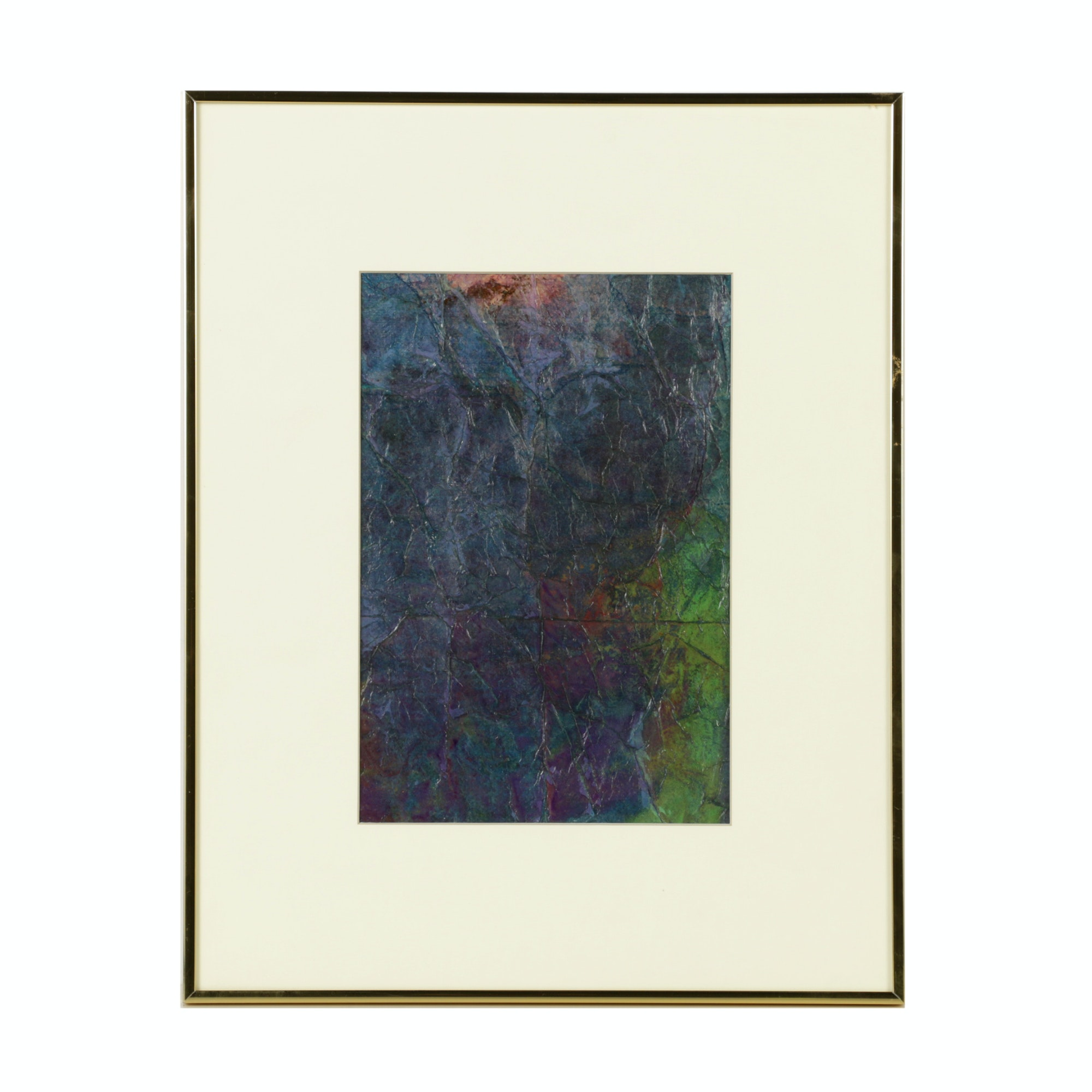 Louis Papp Watercolor Painting of Abstract Composition