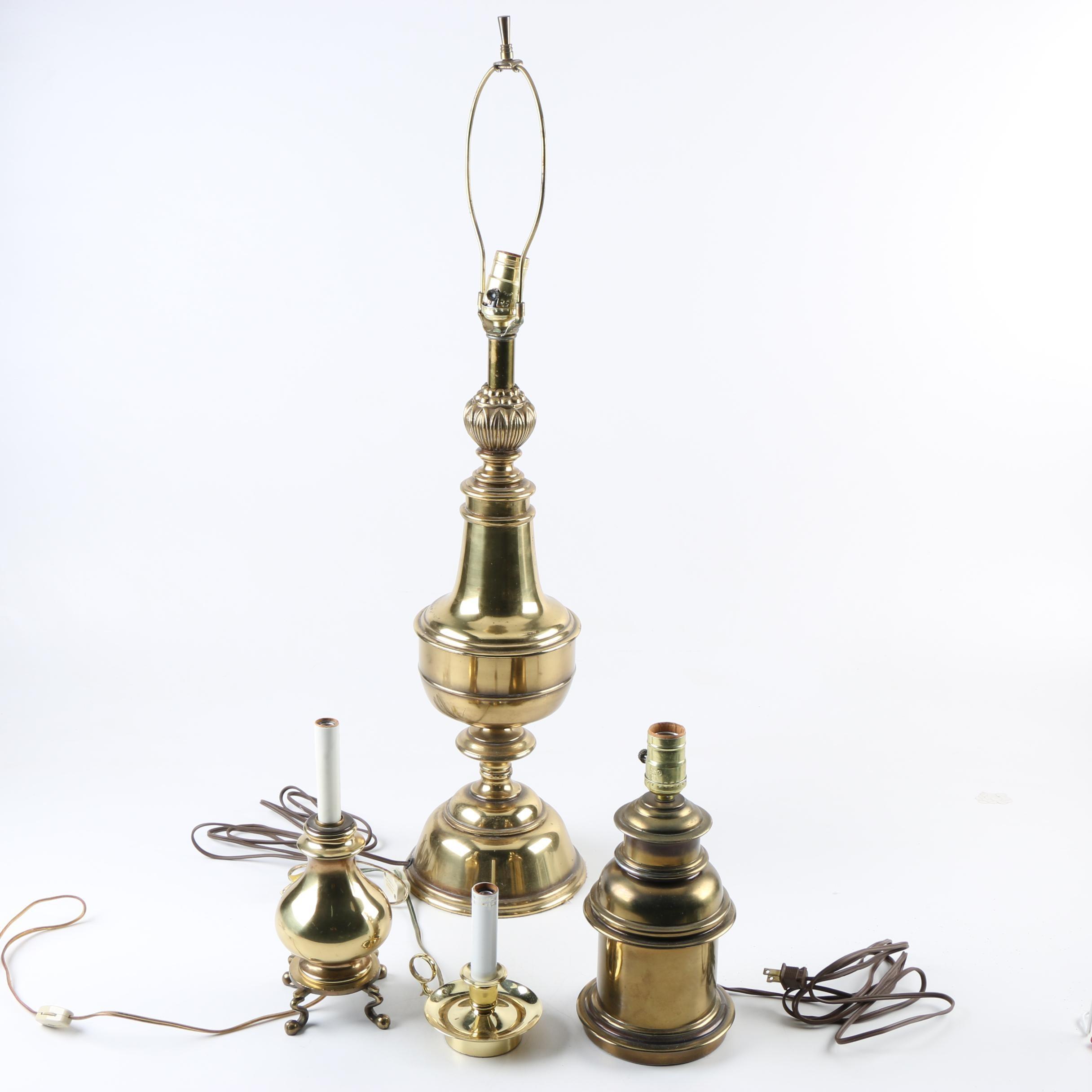 Vintage Brass Lamps including Baldwin