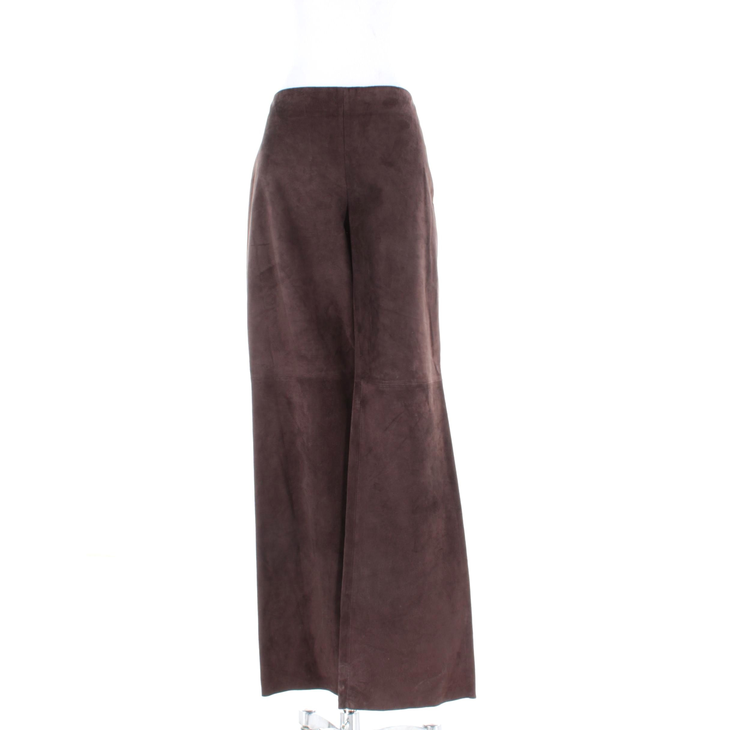 Dana Buchman Brown Suede Wide Legged Pants