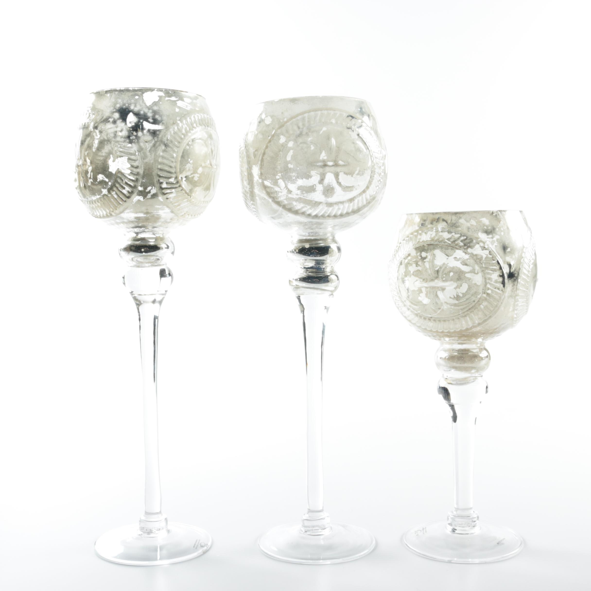 Glass Candle Holder Hurricanes