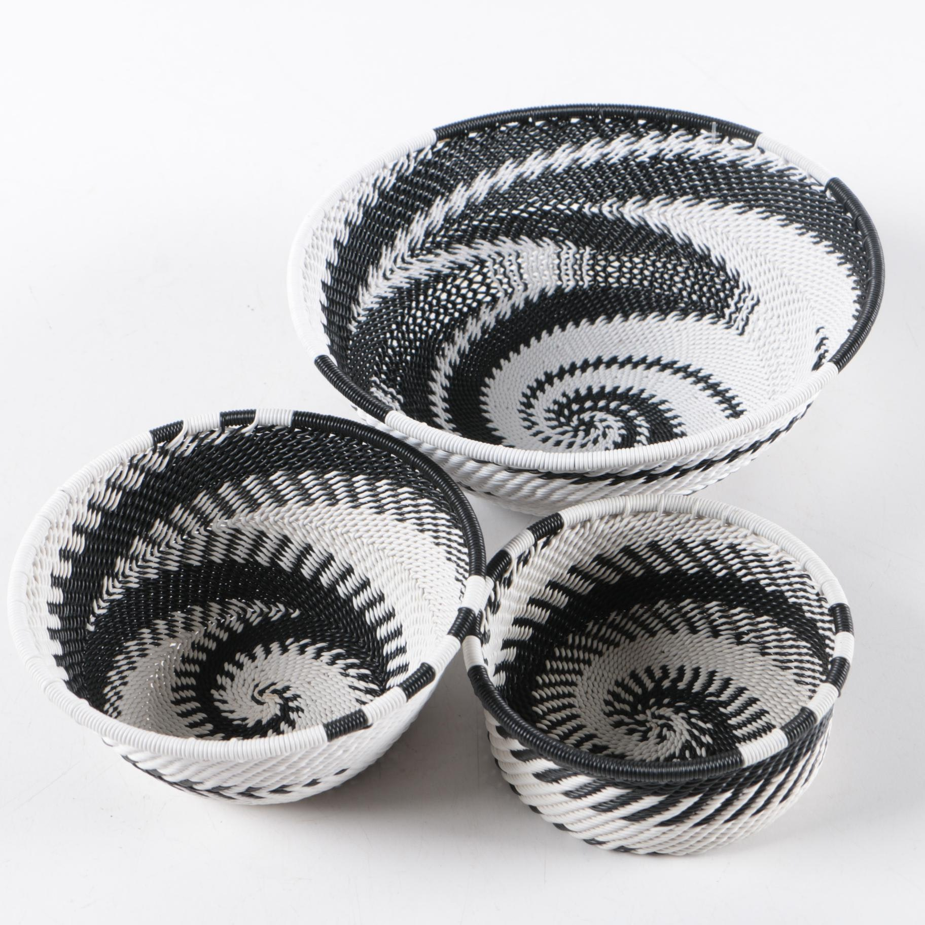 "Handwoven ""Zulu Telephone Wire"" Bowls"